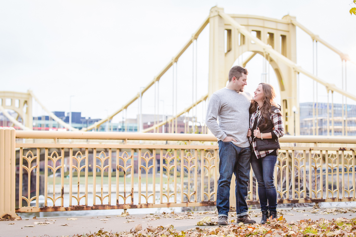 Downtown Pittsburgh Engagement Session | Brianna & Jeff