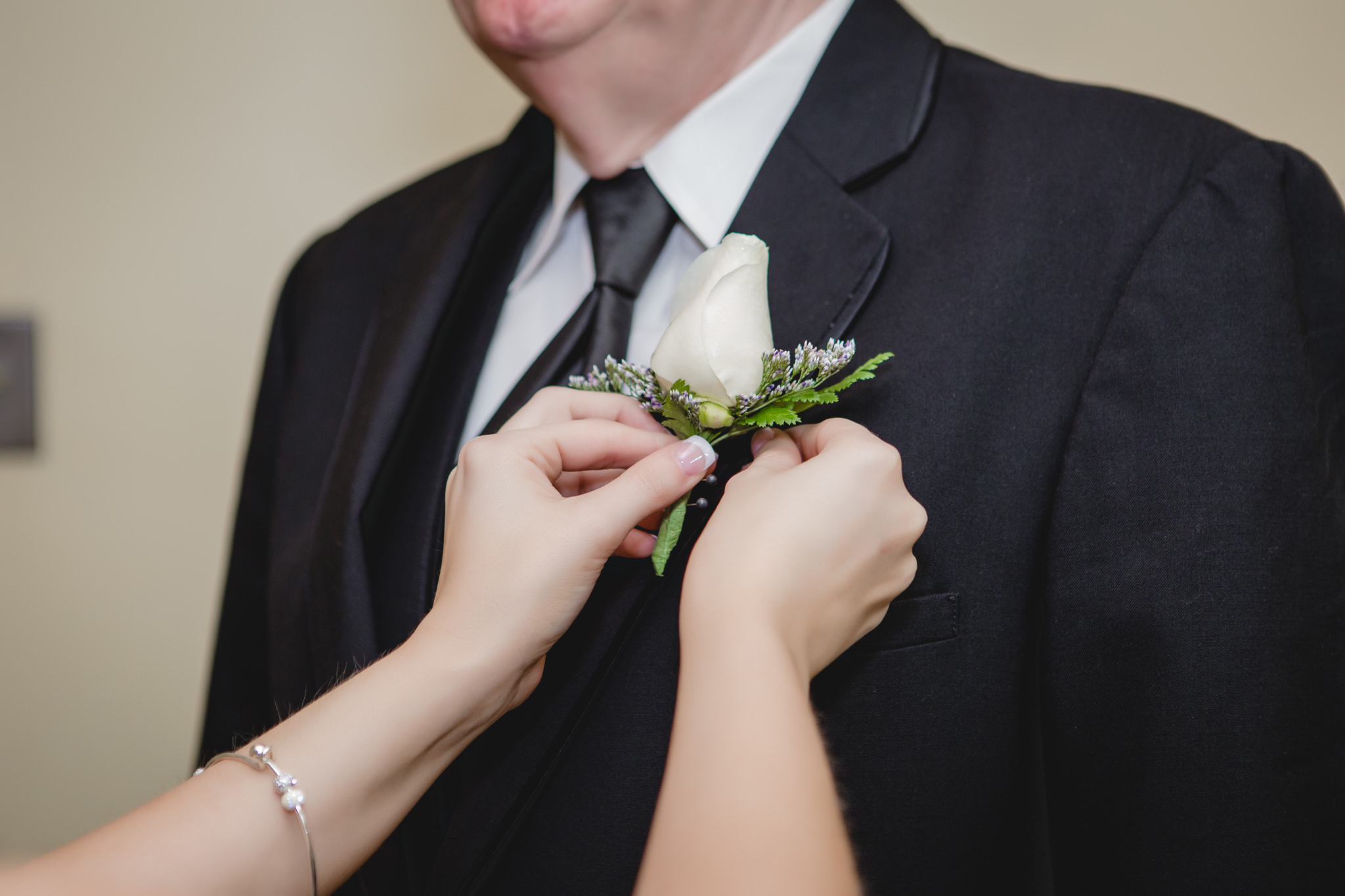 Father of the bride's boutonniere