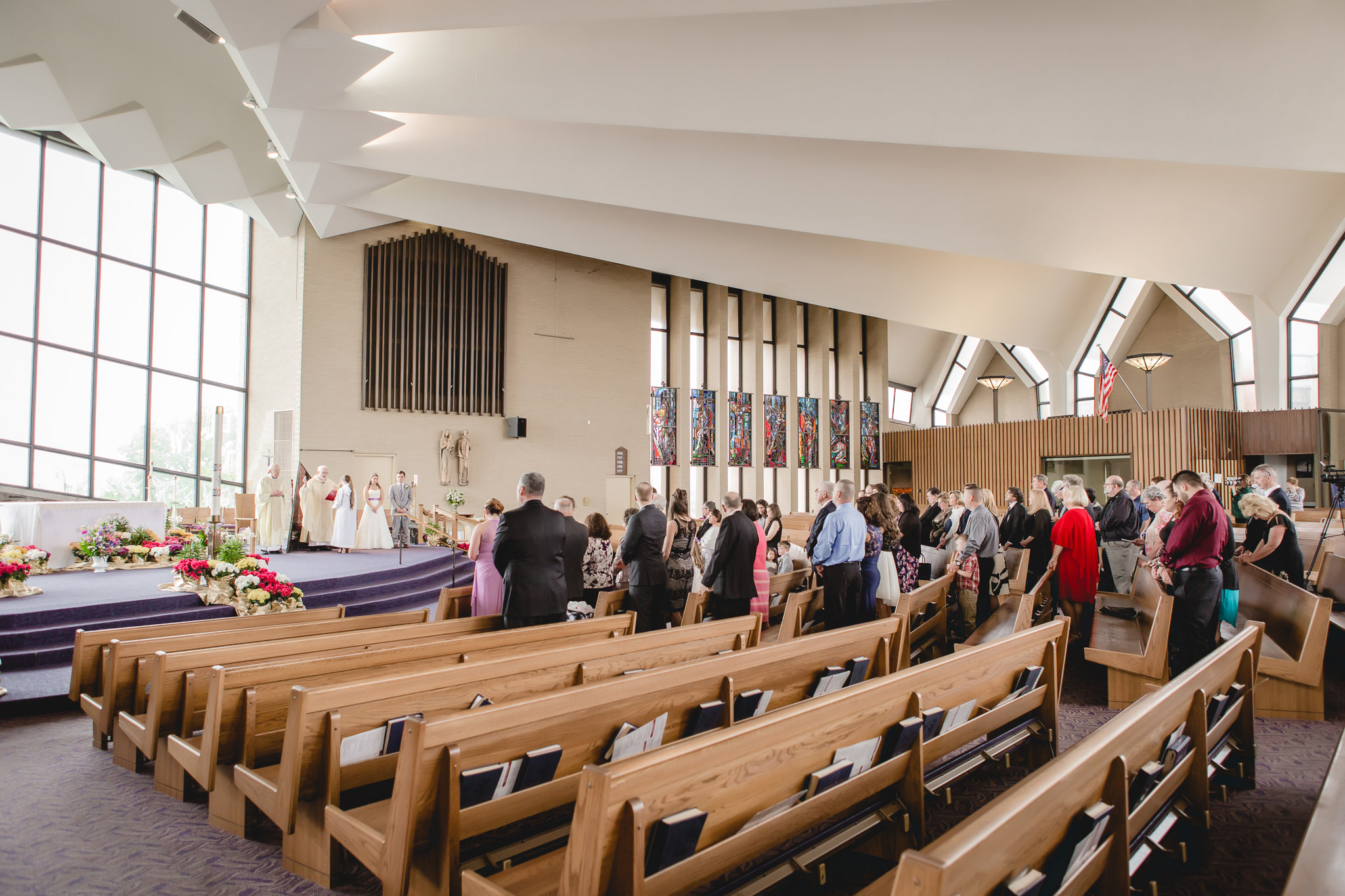 Wedding ceremony at St. Malachy Catholic Church in Kennedy Township, Pittsburgh, PA