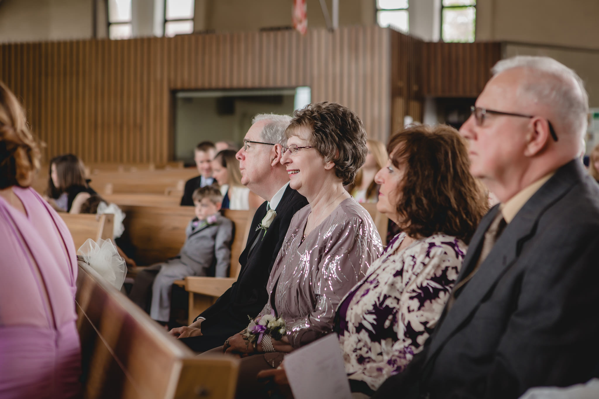 Parents of the bride during St. Malachy wedding ceremony