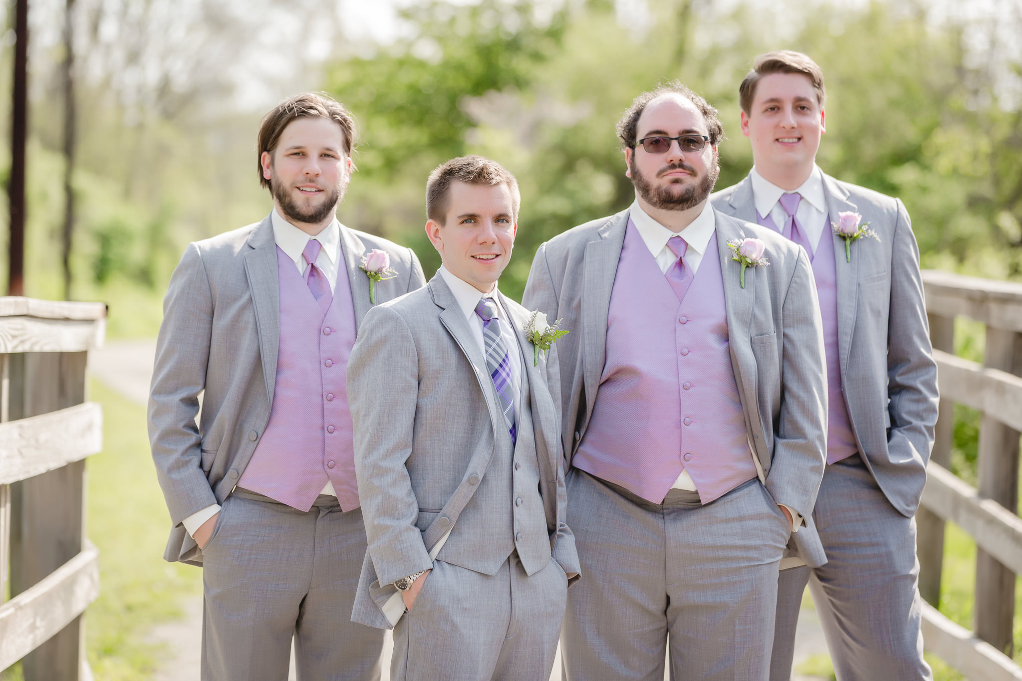 Groomsmen on the Montour Trail in Robinson Township