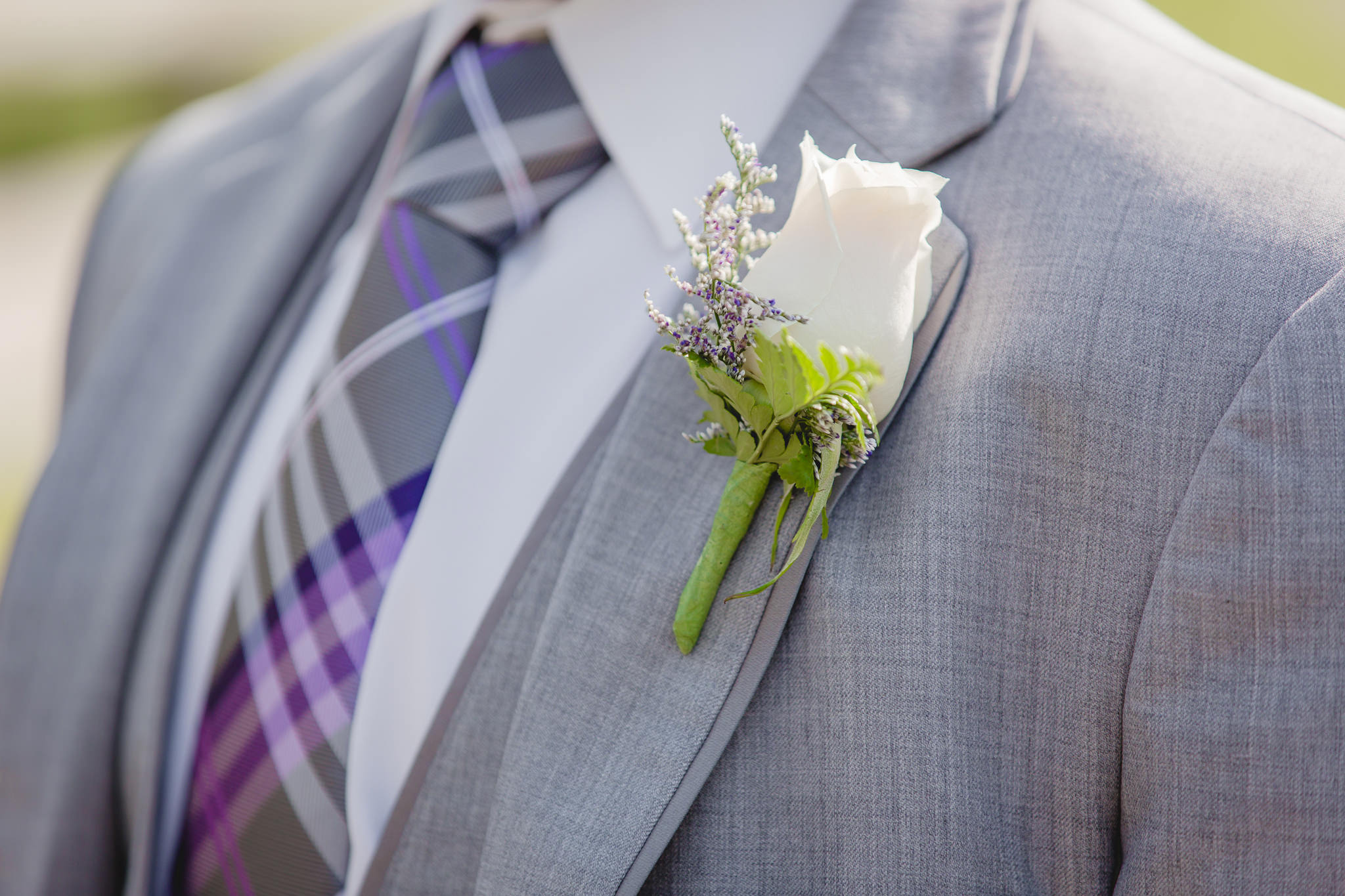 Boutonniere by Carrie Anne Powell Floral Designs
