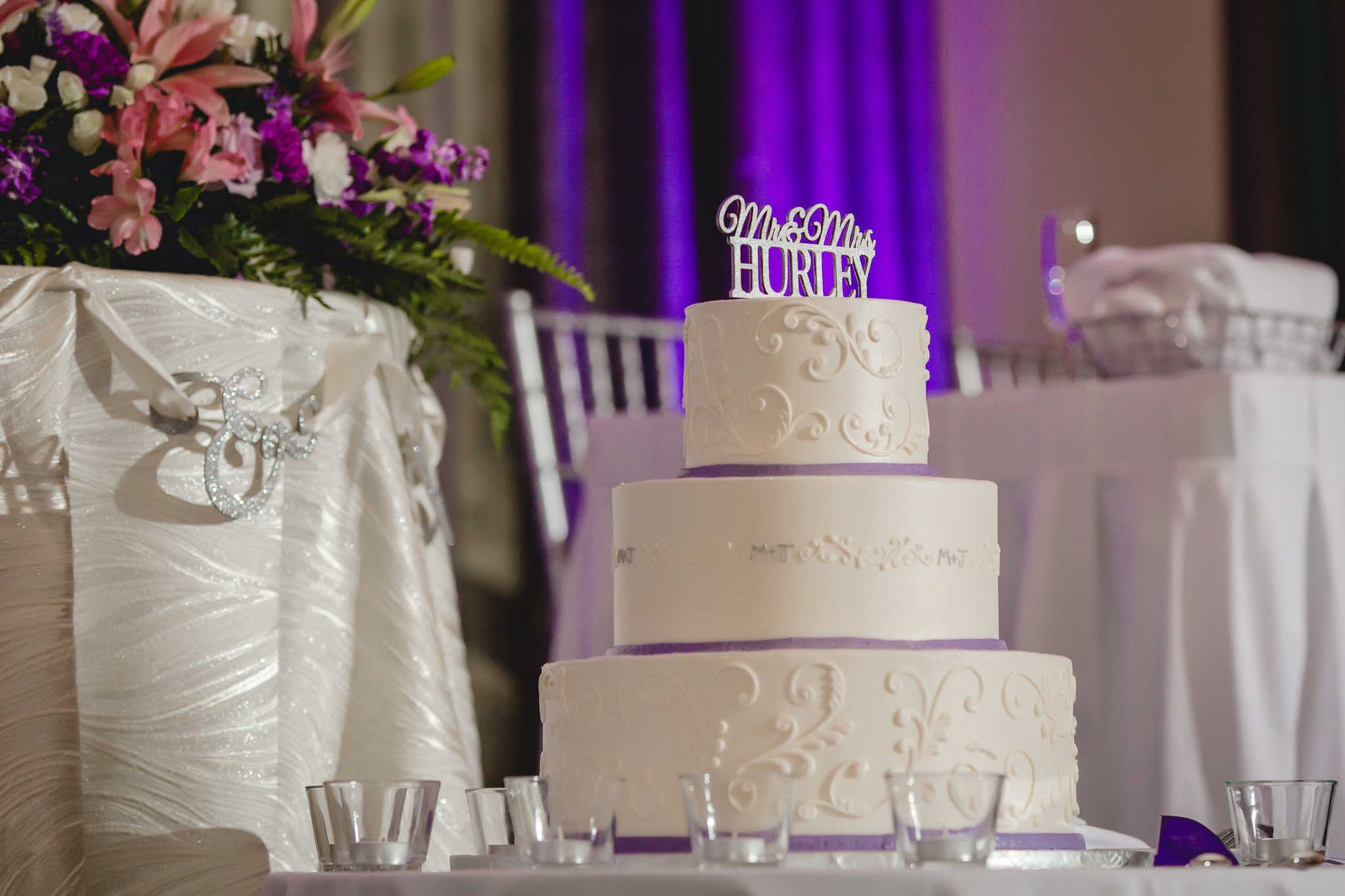 Wedding cake by Bethel Bakery at the Pittsburgh Airport Marriott