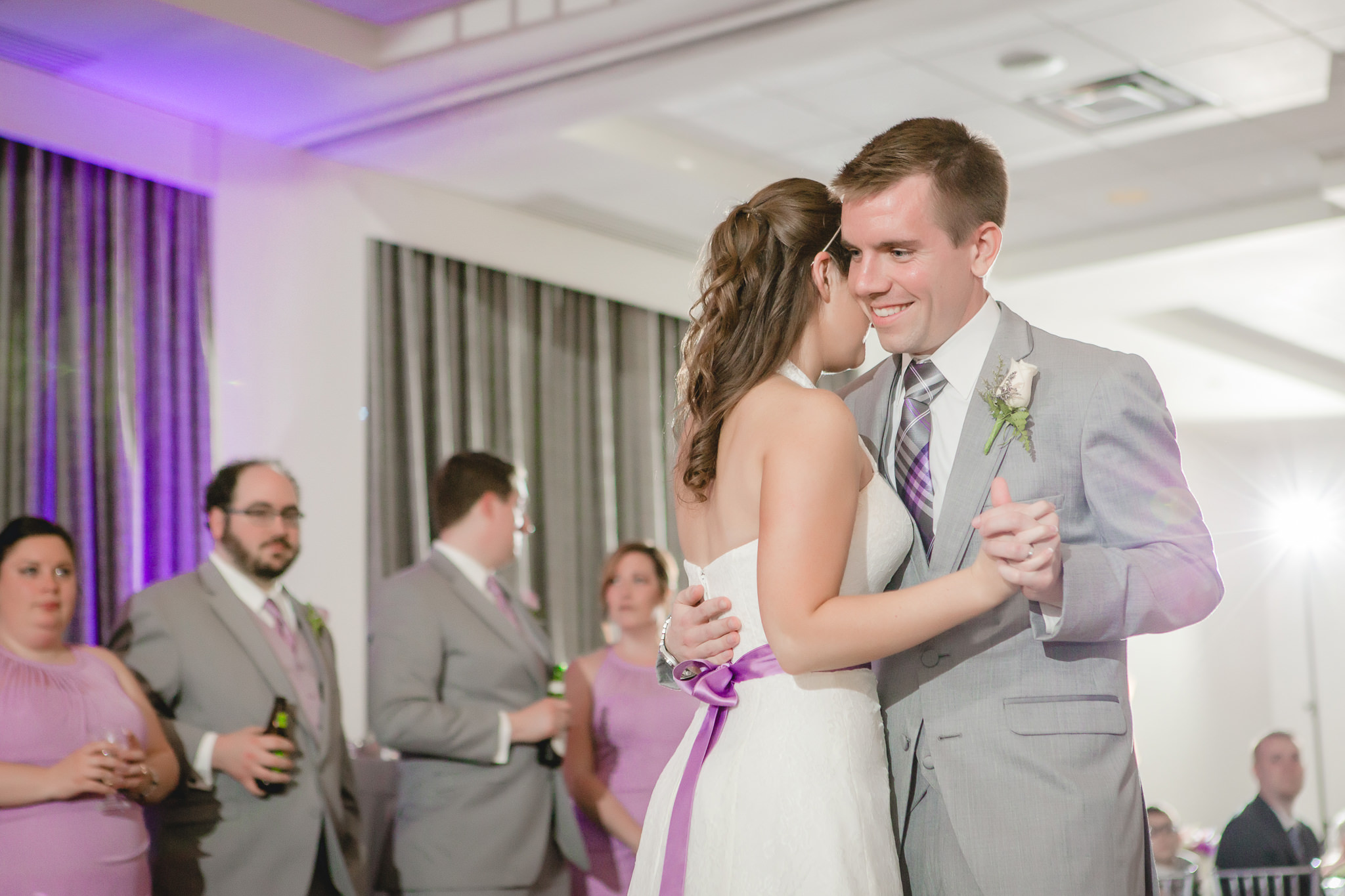 First dance at the Pittsburgh Airport Marriott wedding reception