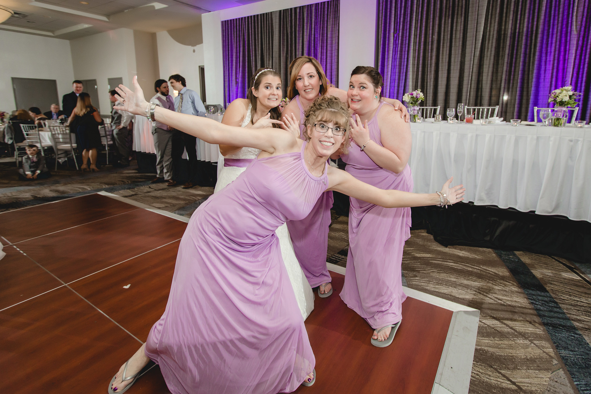Bridesmaids at the Pittsburgh Airport Marriott