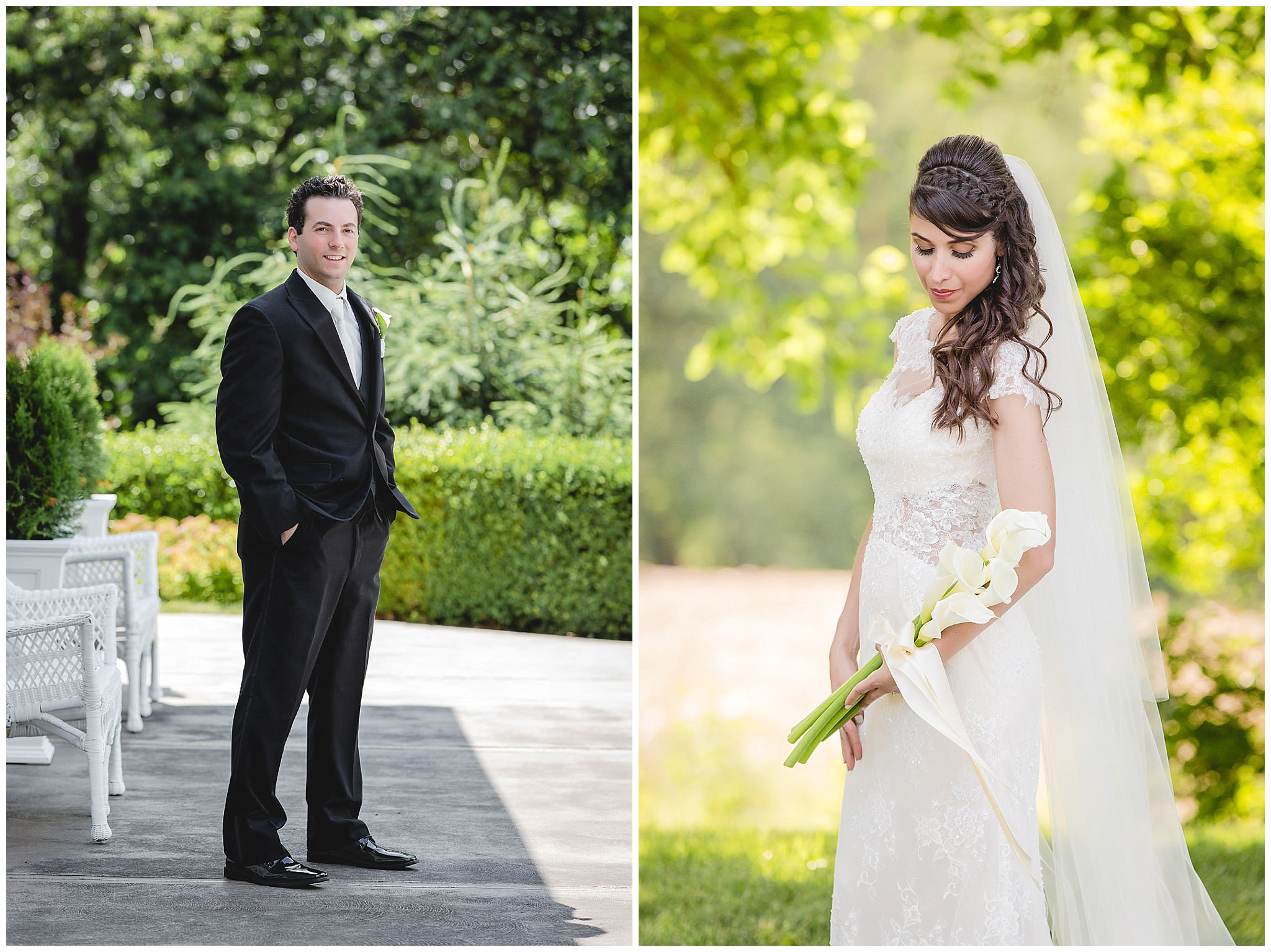 Portraits of the bride & groom at Greystone Fields