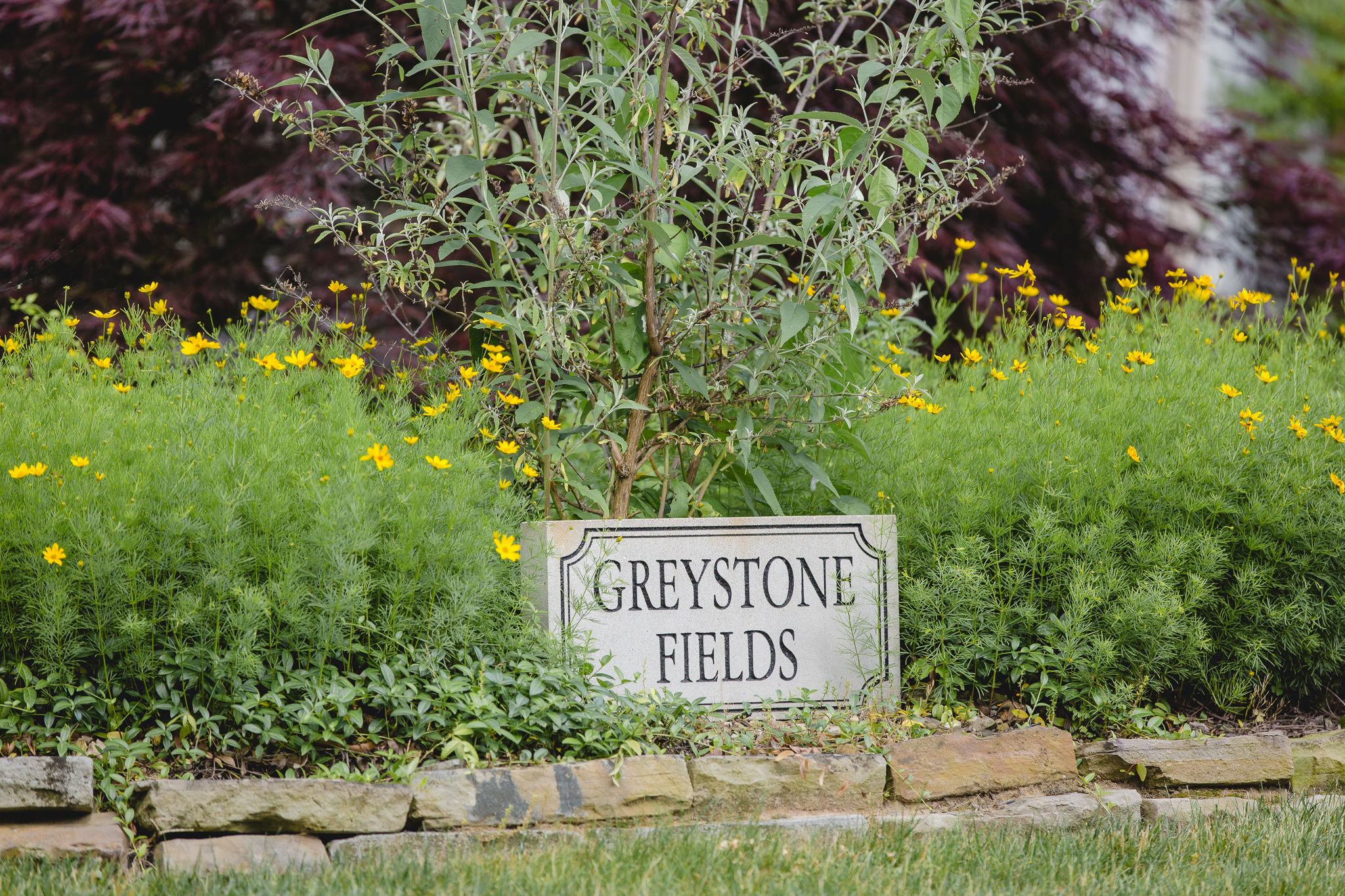 The sign at Greystone Fields in Gibsonia, PA