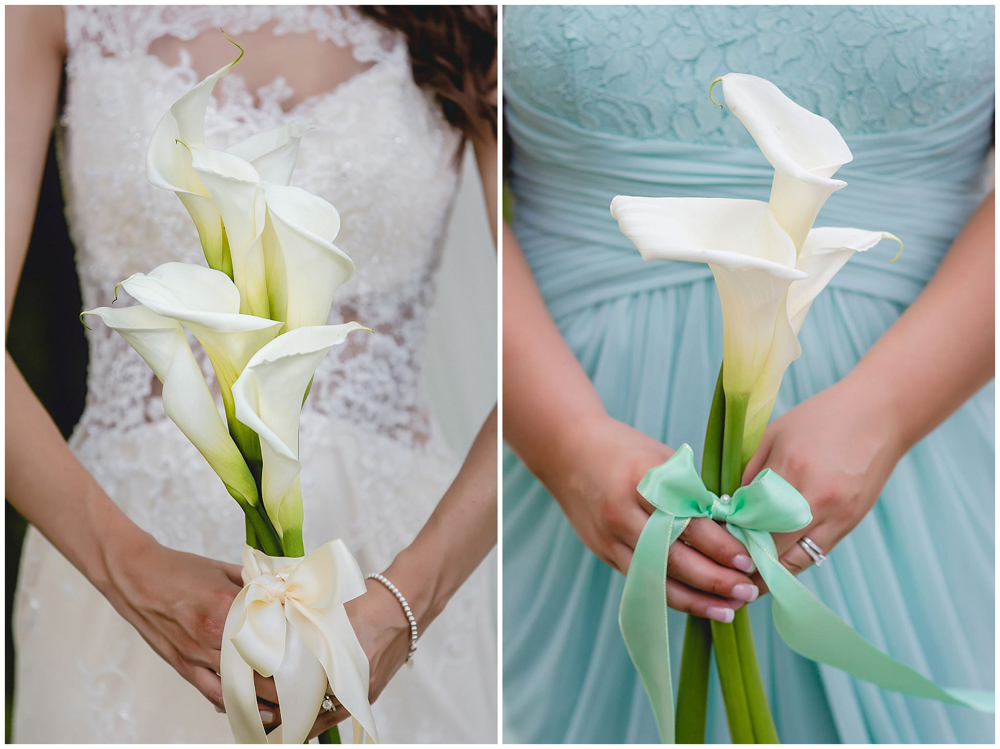 White calla lily bouquets by Weischedel Florist & Ghse