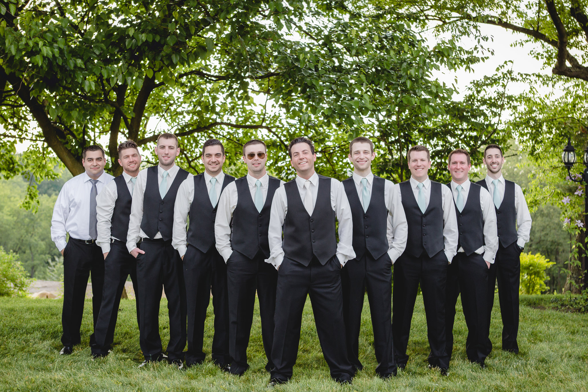 Groom and his groomsmen at a Greystone Fields wedding