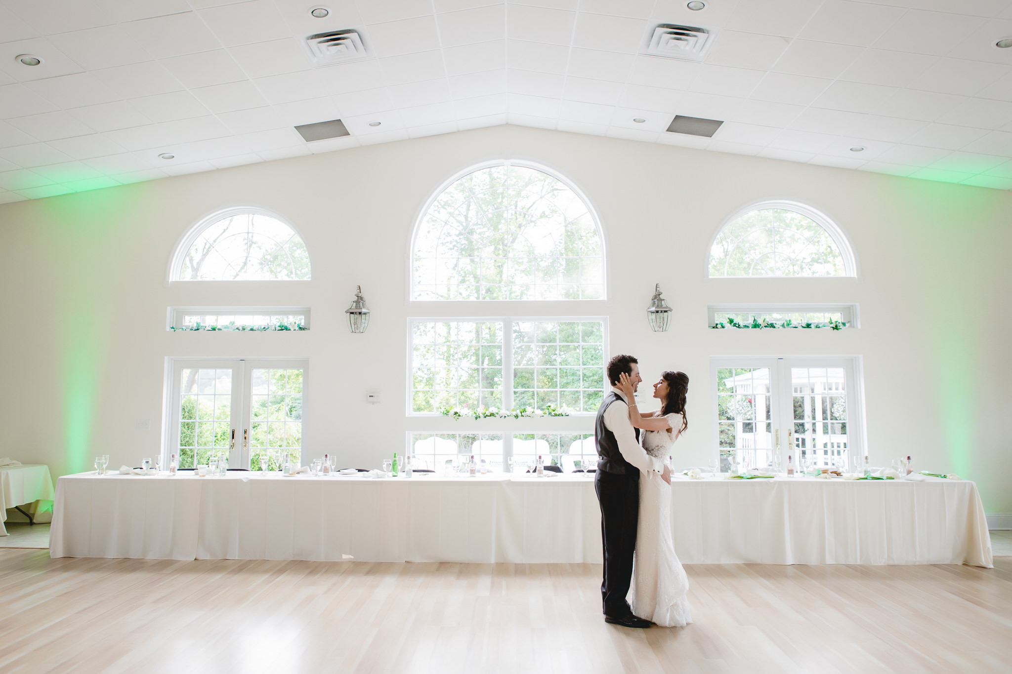 Bride and groom's first dance at Greystone Fields
