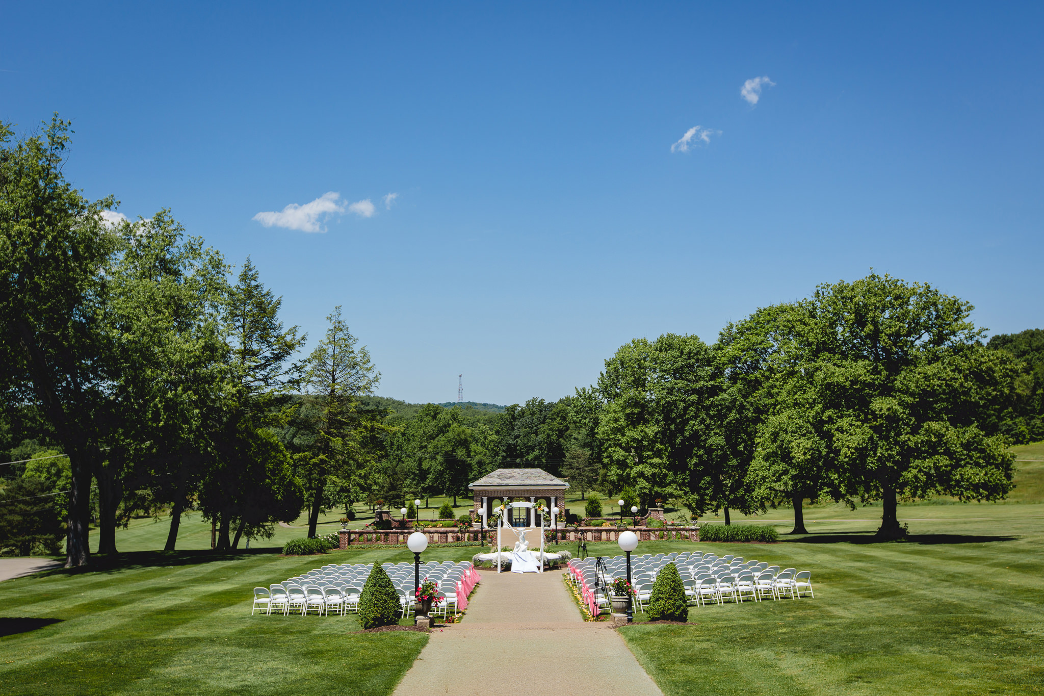 Ceremony site at Linden Hall