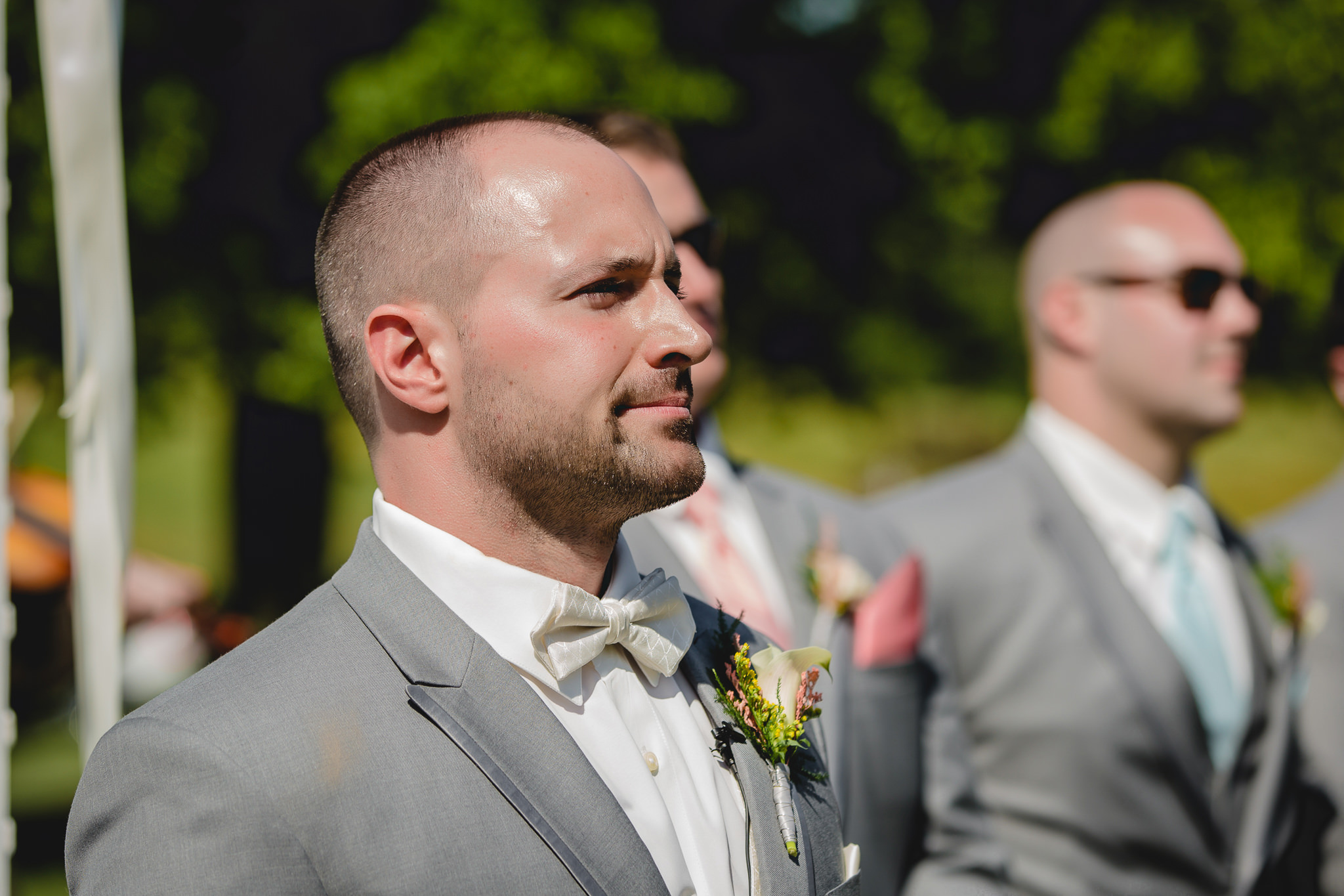 Groom's reaction to seeing his bride for the first time