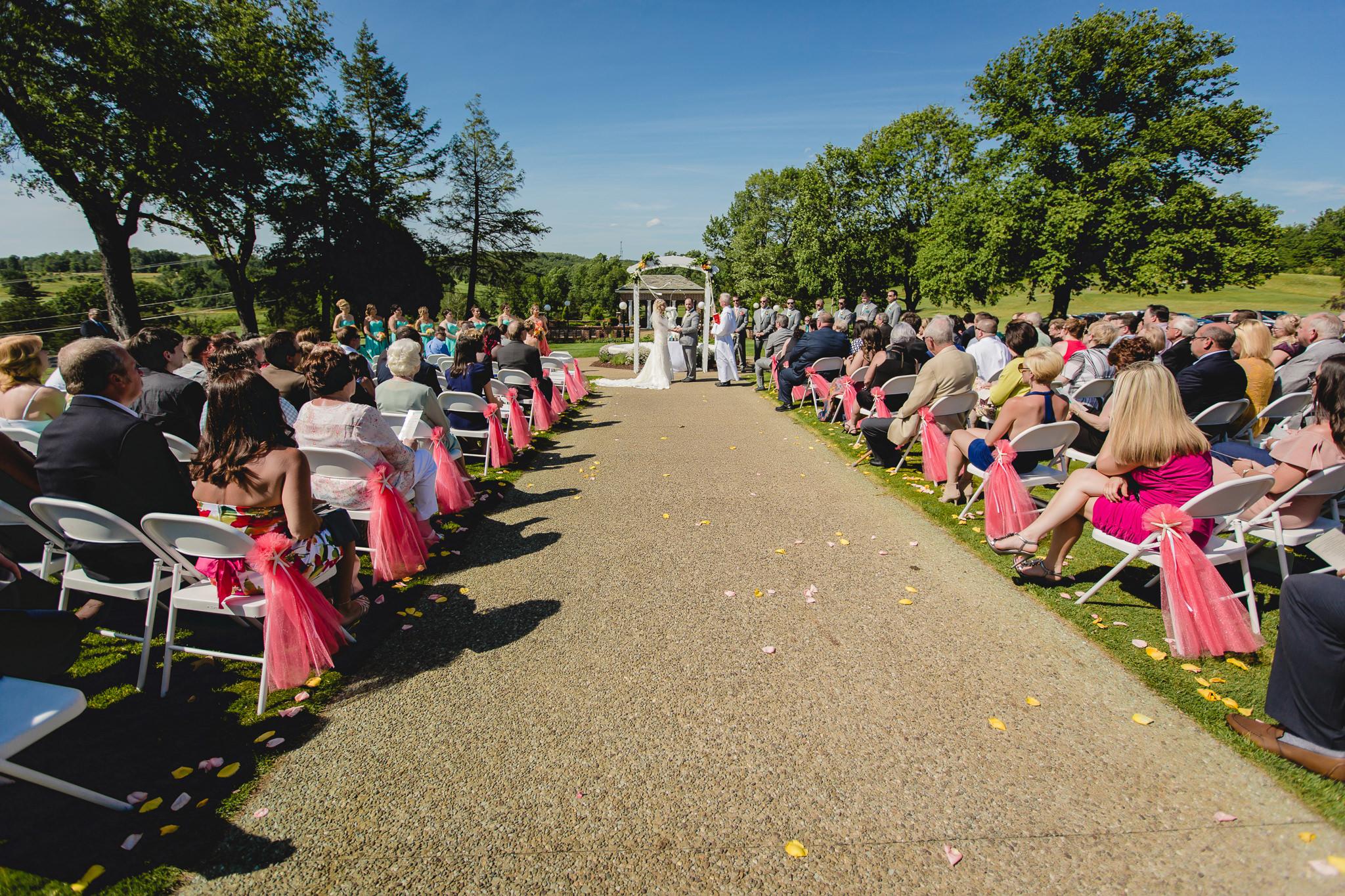 Outdoor wedding ceremony at Linden Hall