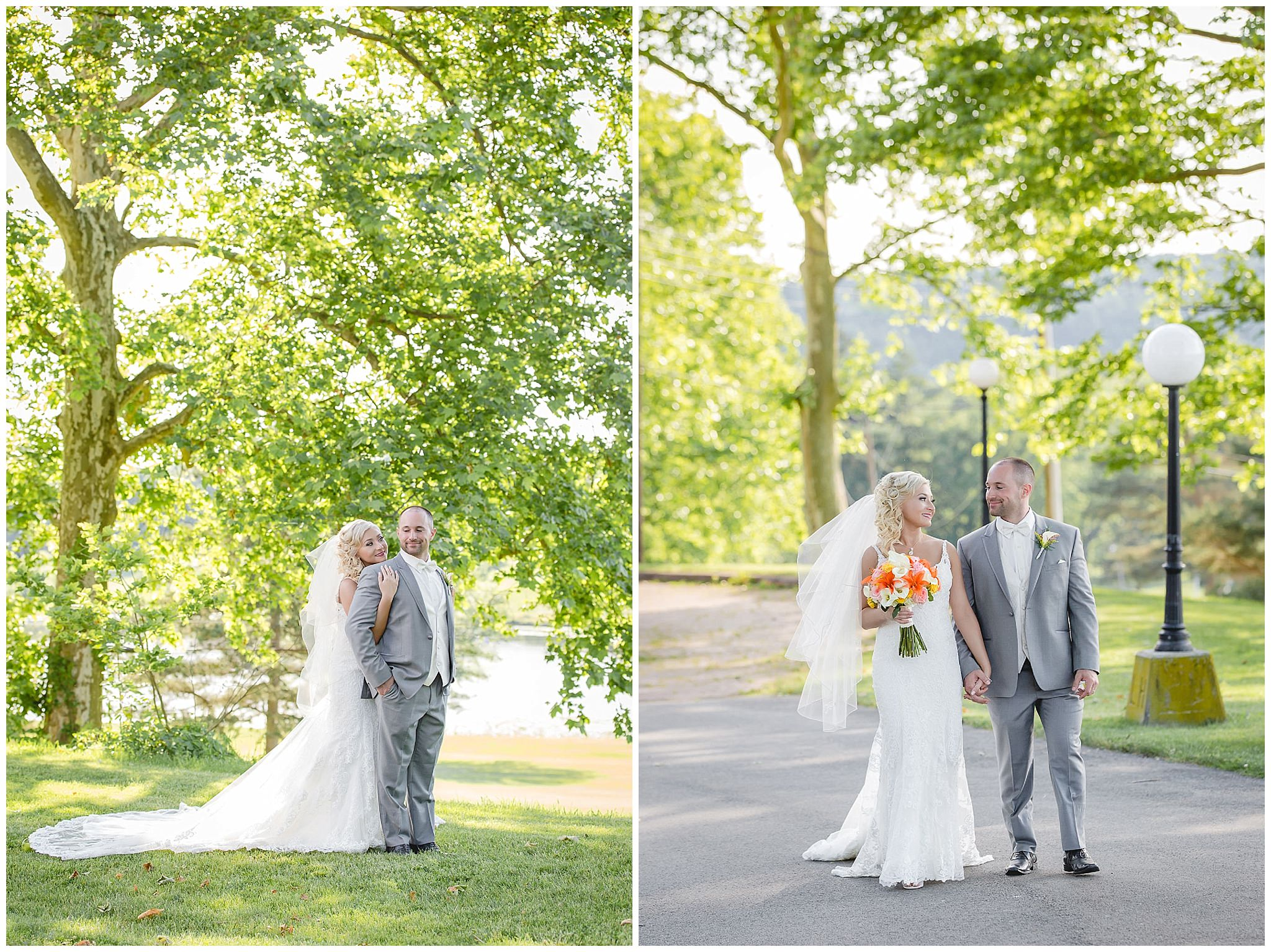 Bride and groom's portrait session at Linden Hall
