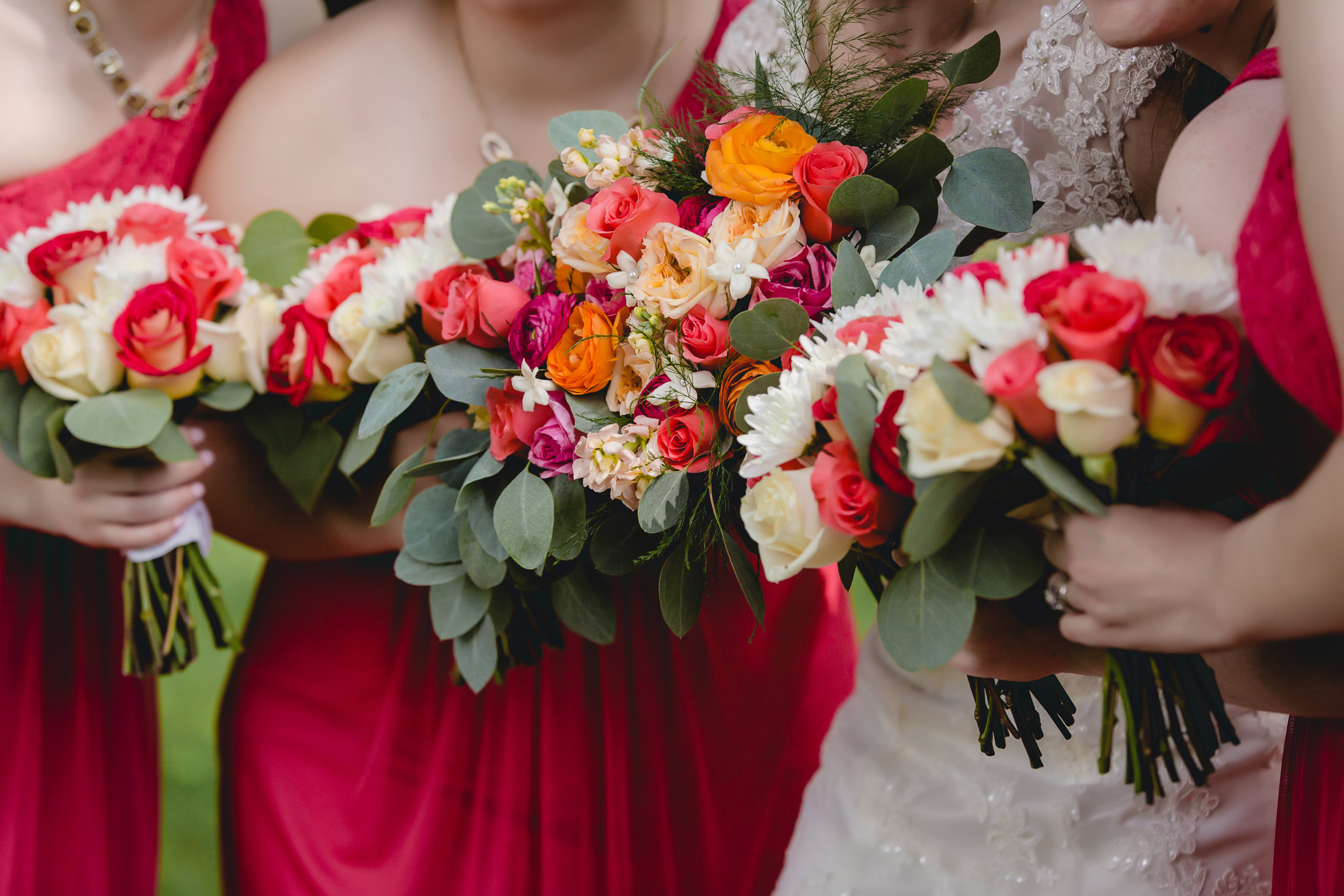 Bouquets by McCandless Floral for a Shannopin Country Club wedding