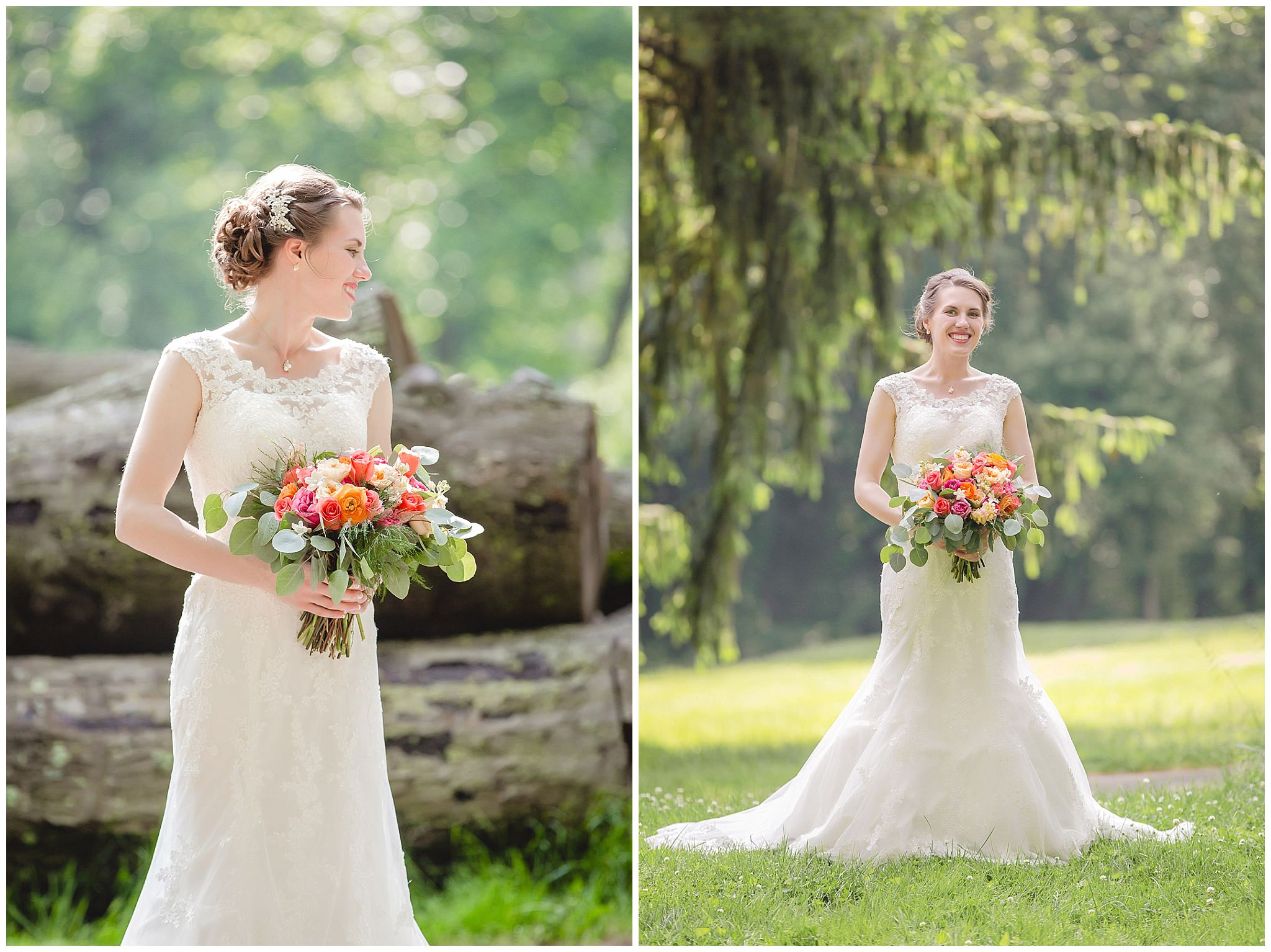 Bridal portraits at Shannopin Country Club with bouquet from McCandless Floral
