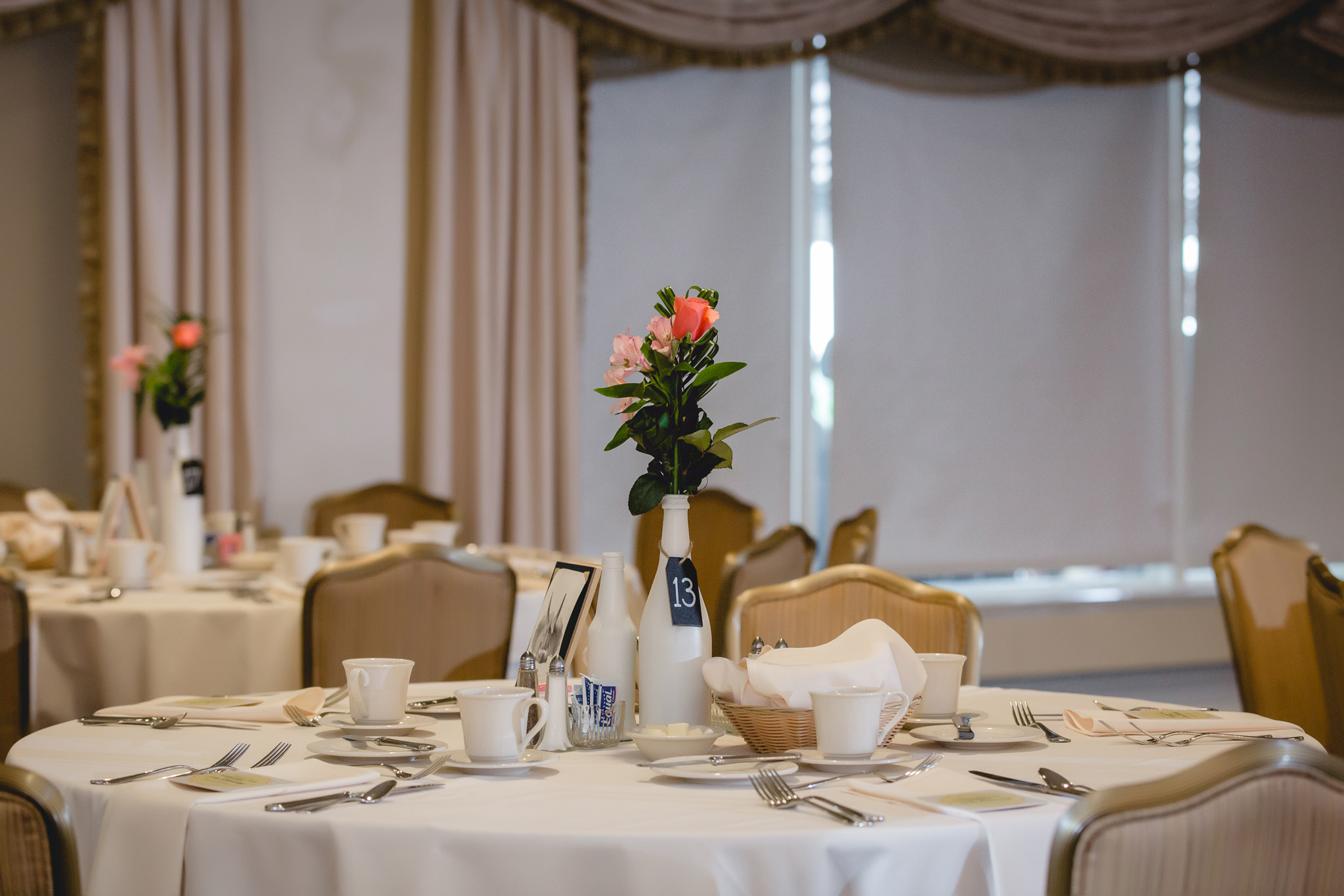 Centerpieces at Shannopin Country Club in Pittsburgh PA