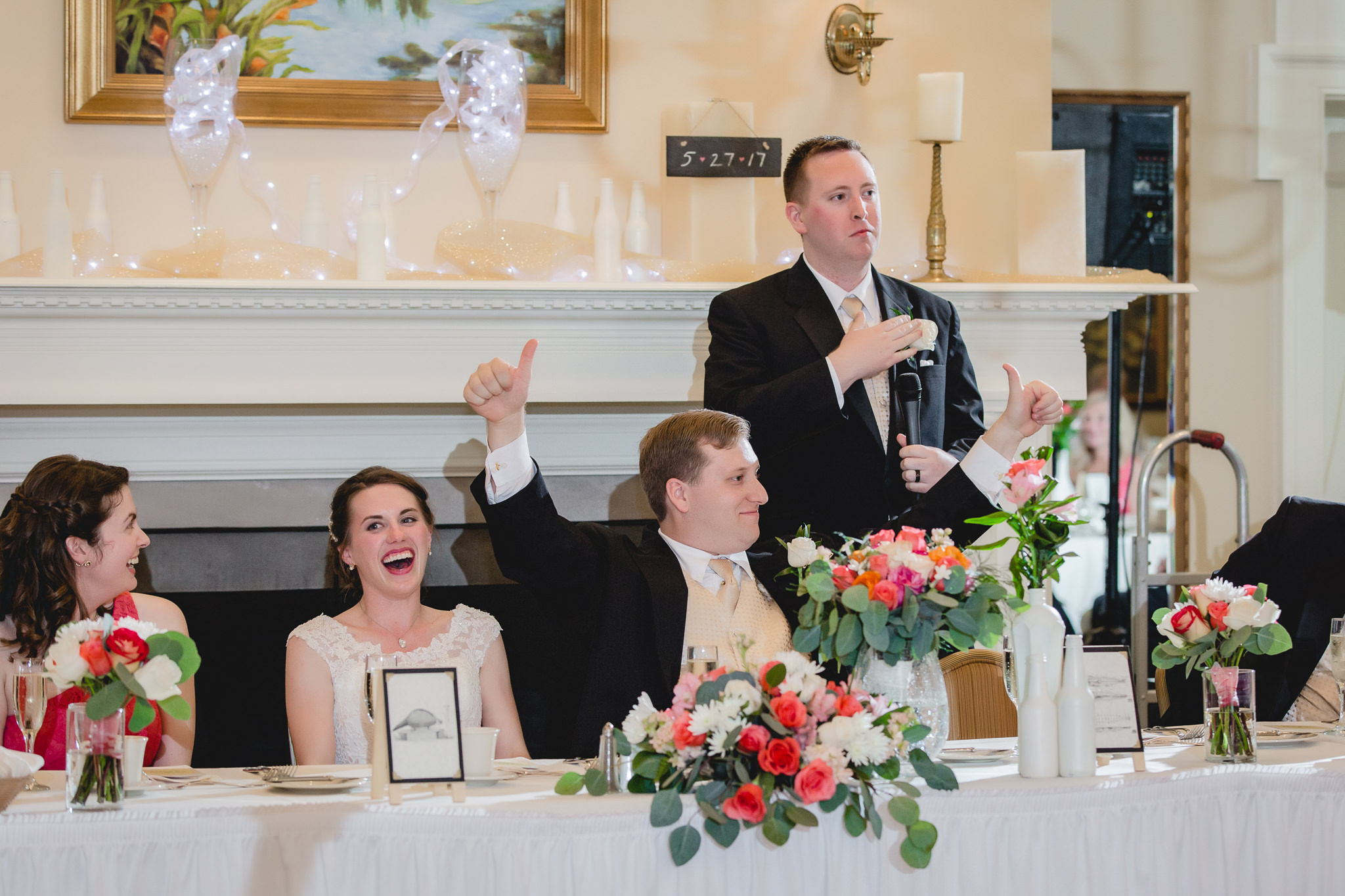 Best man toasts the bride & groom at Shannopin Country Club