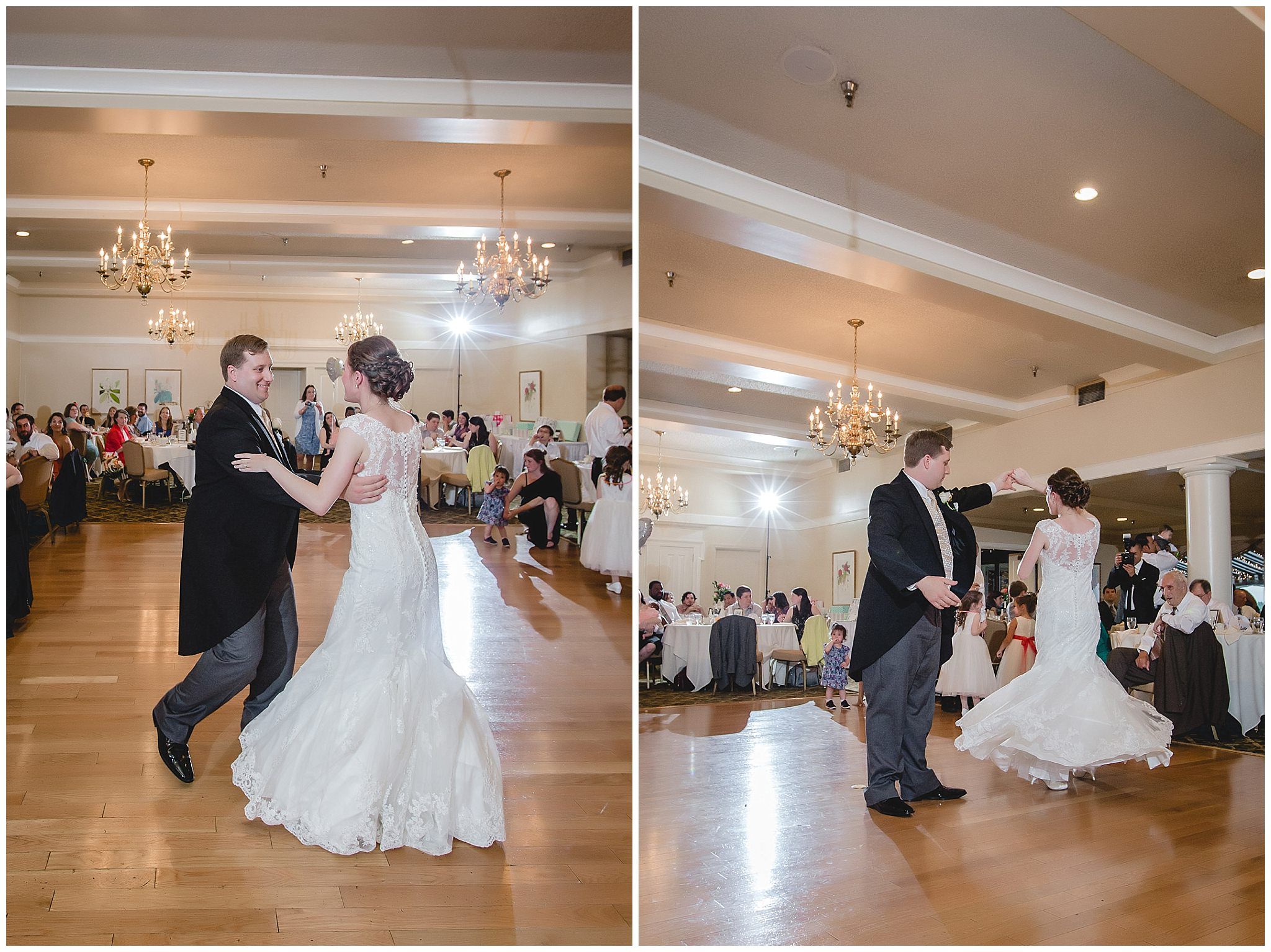 Bride & groom's first dance at Shannopin Country Club wedding reception