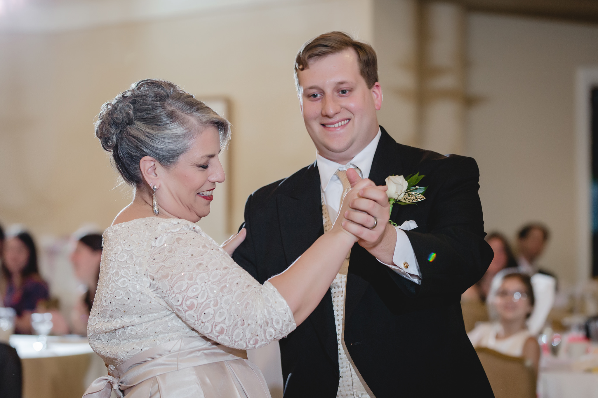 Mother-son dance at Shannopin Country Club wedding reception