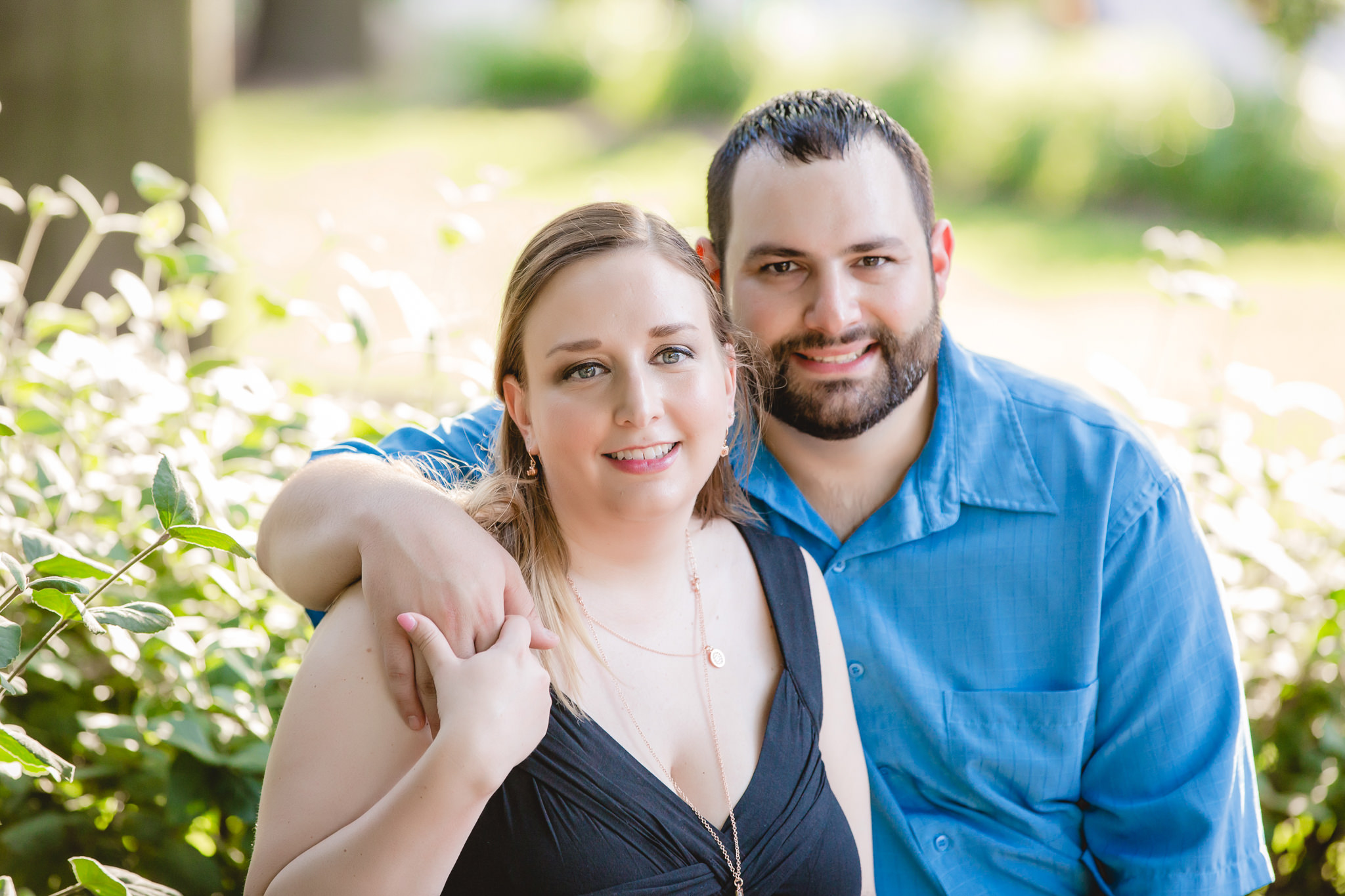 Engagement session on Duquesne University's campus in Pittsburgh