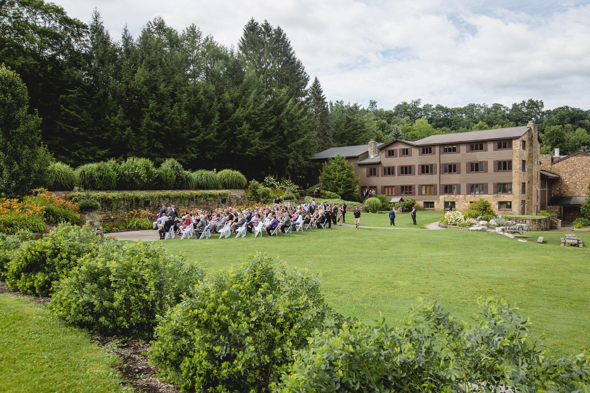 Wedding ceremony at Hidden Valley Resort