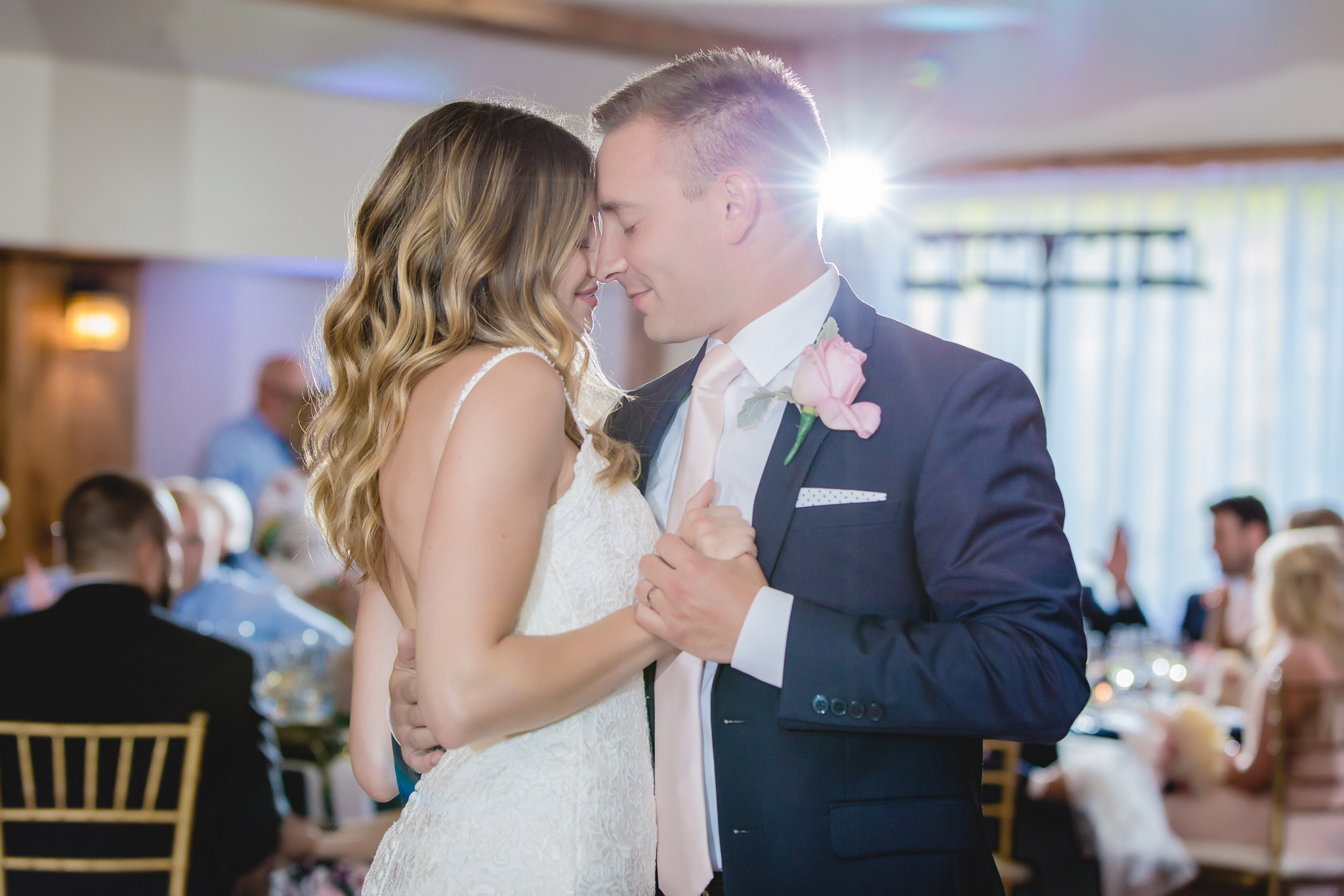 Bride and groom share a first dance at Hidden Valley Resort