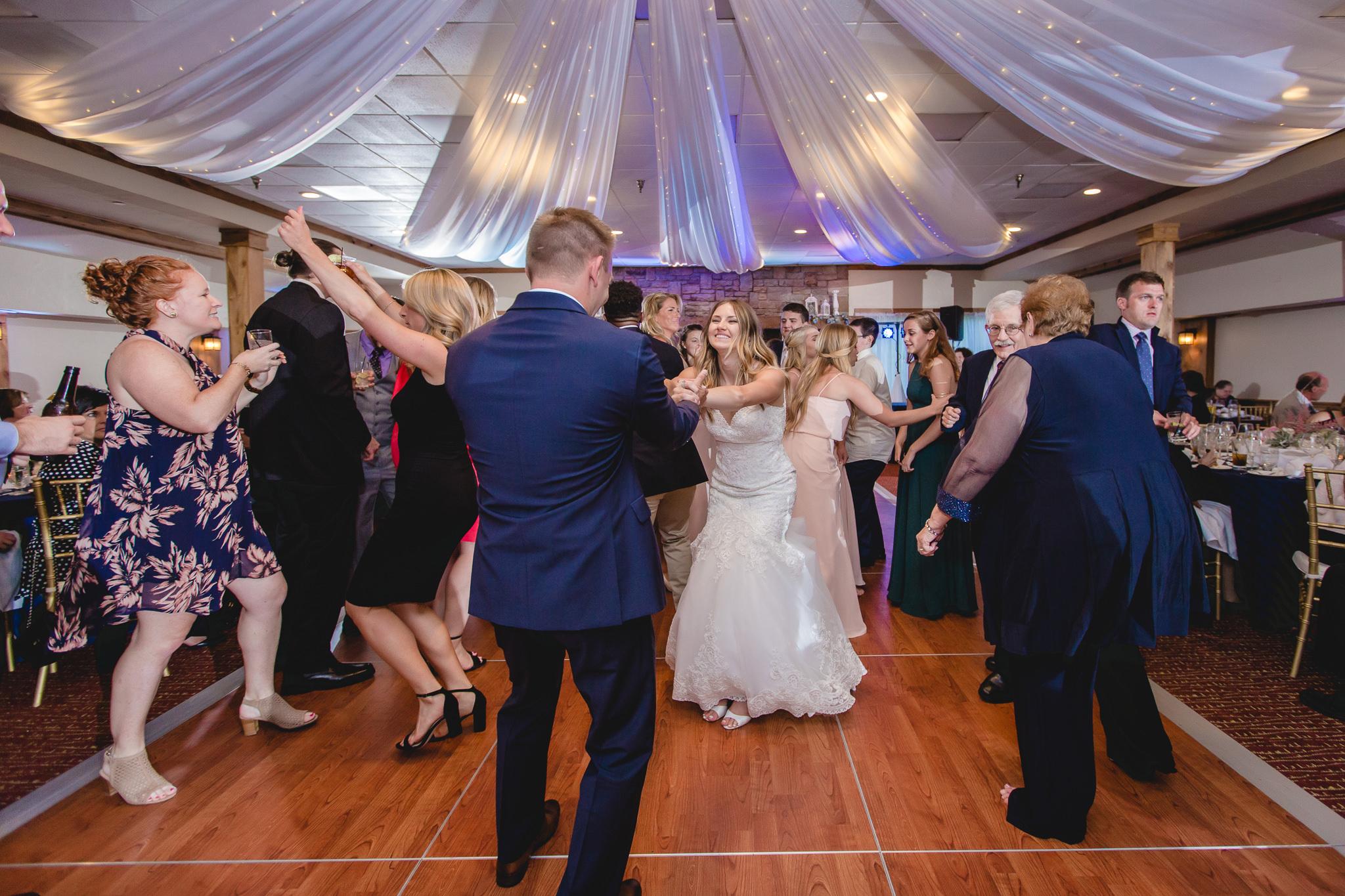 Packed dance floor at Hidden Valley Resort