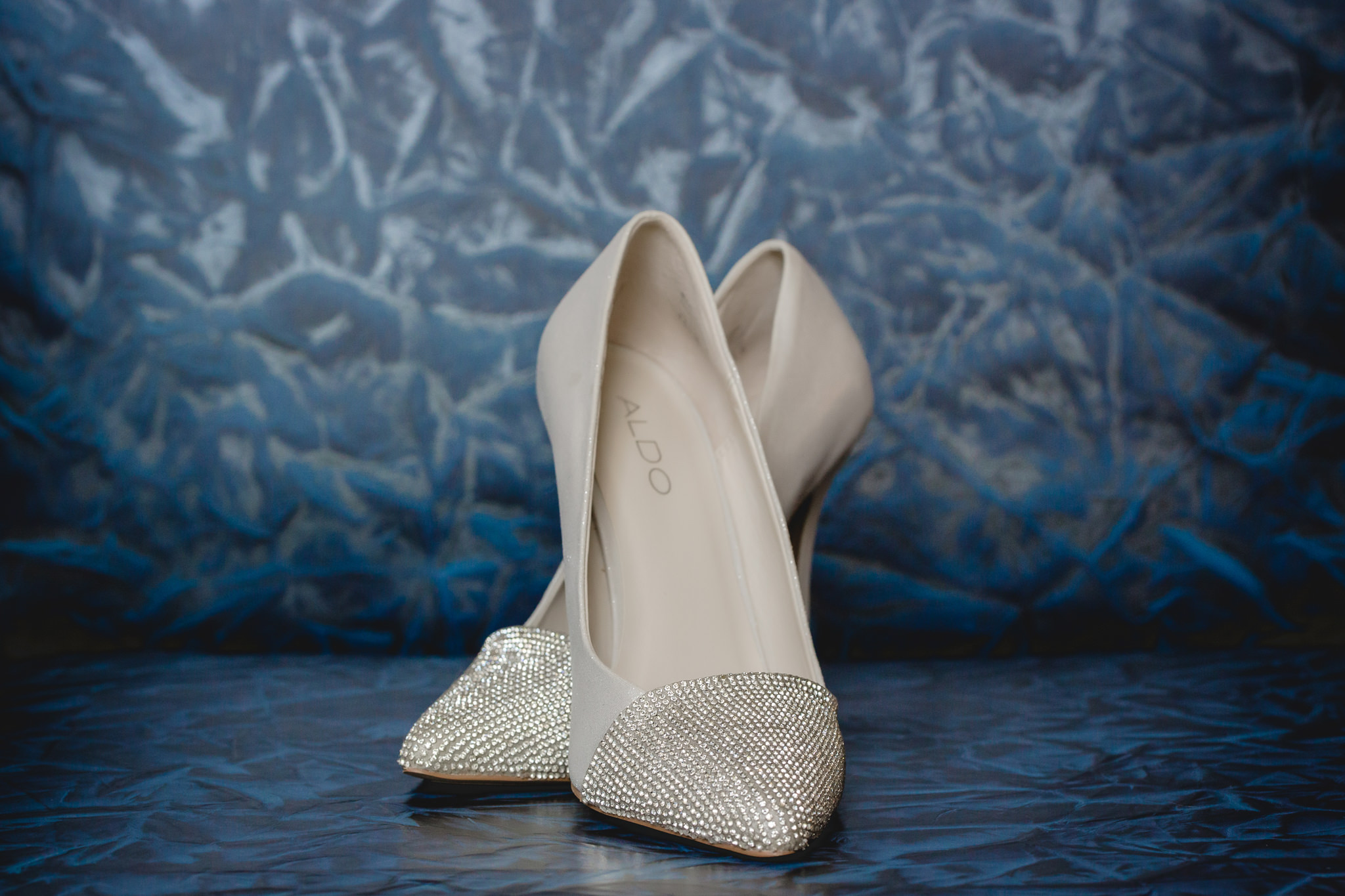 Sparkling Aldo shoes to be worn for a wedding at Pittsburgh Airport Marriott