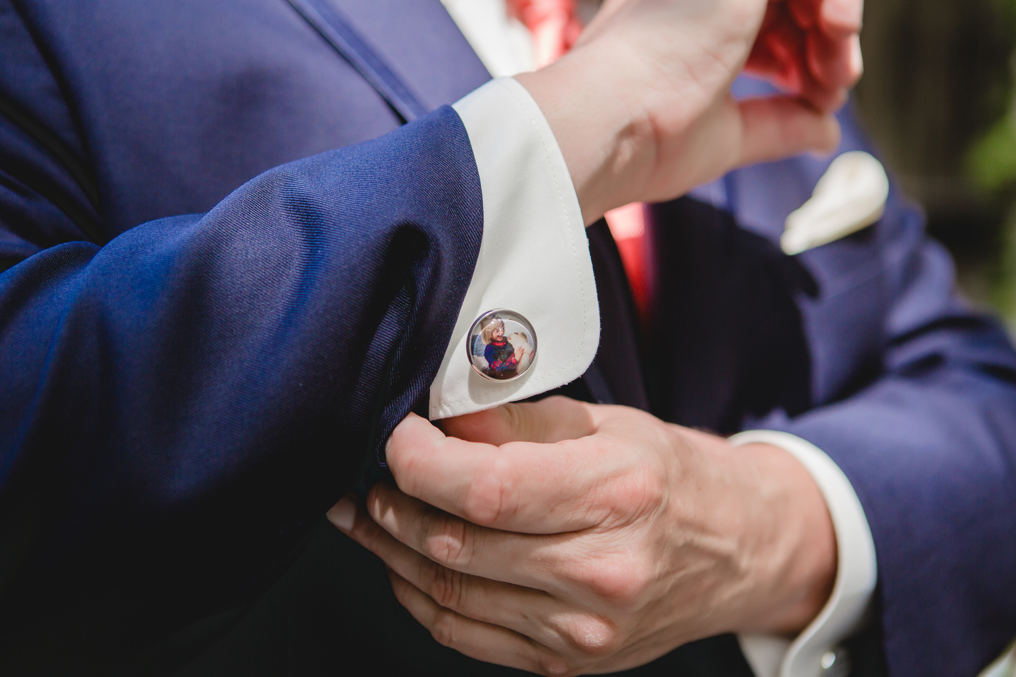 Father of the bride's custom cufflinks
