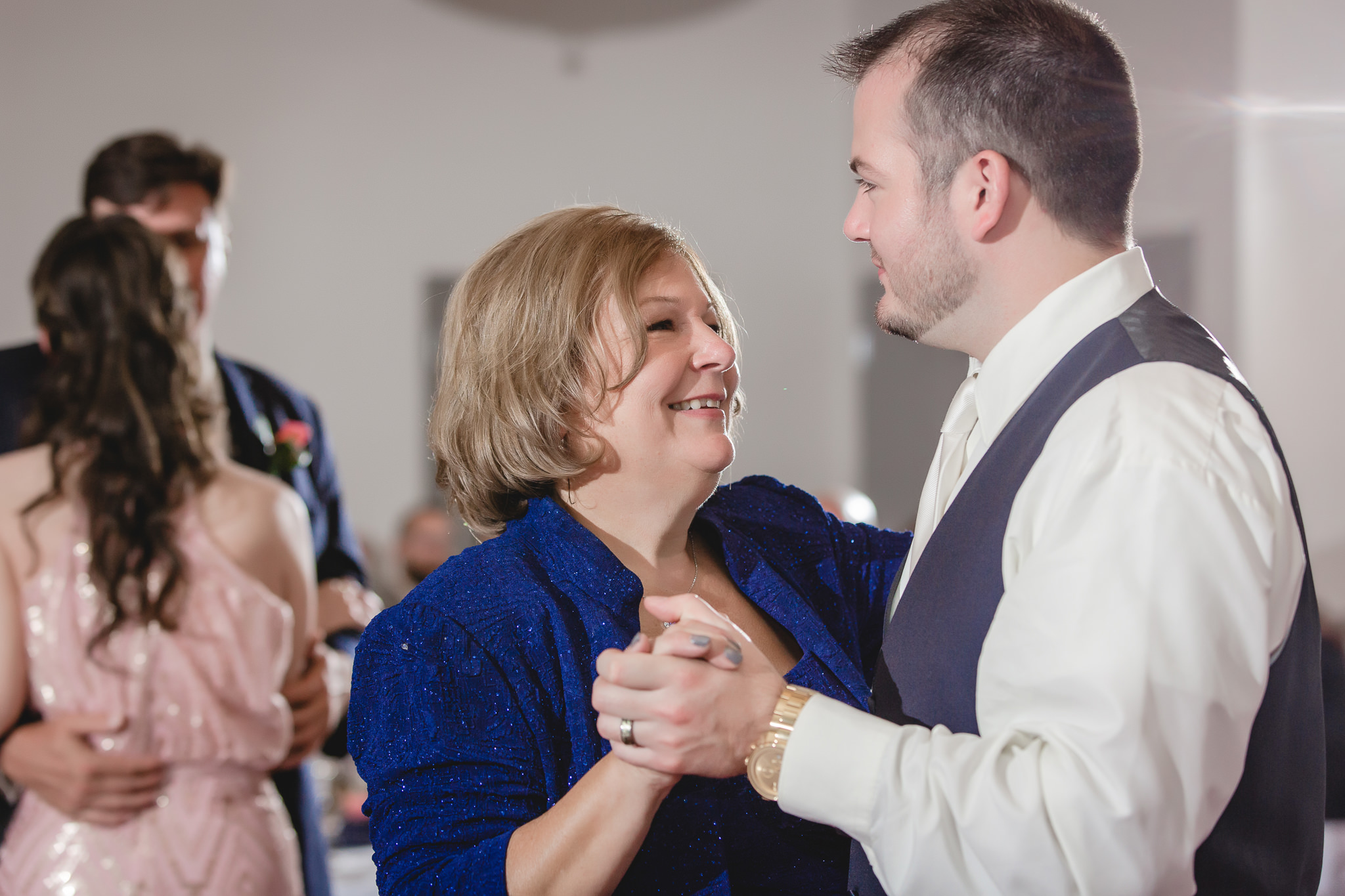 Groom dances with his mother at the Pittsburgh Airport Marriott