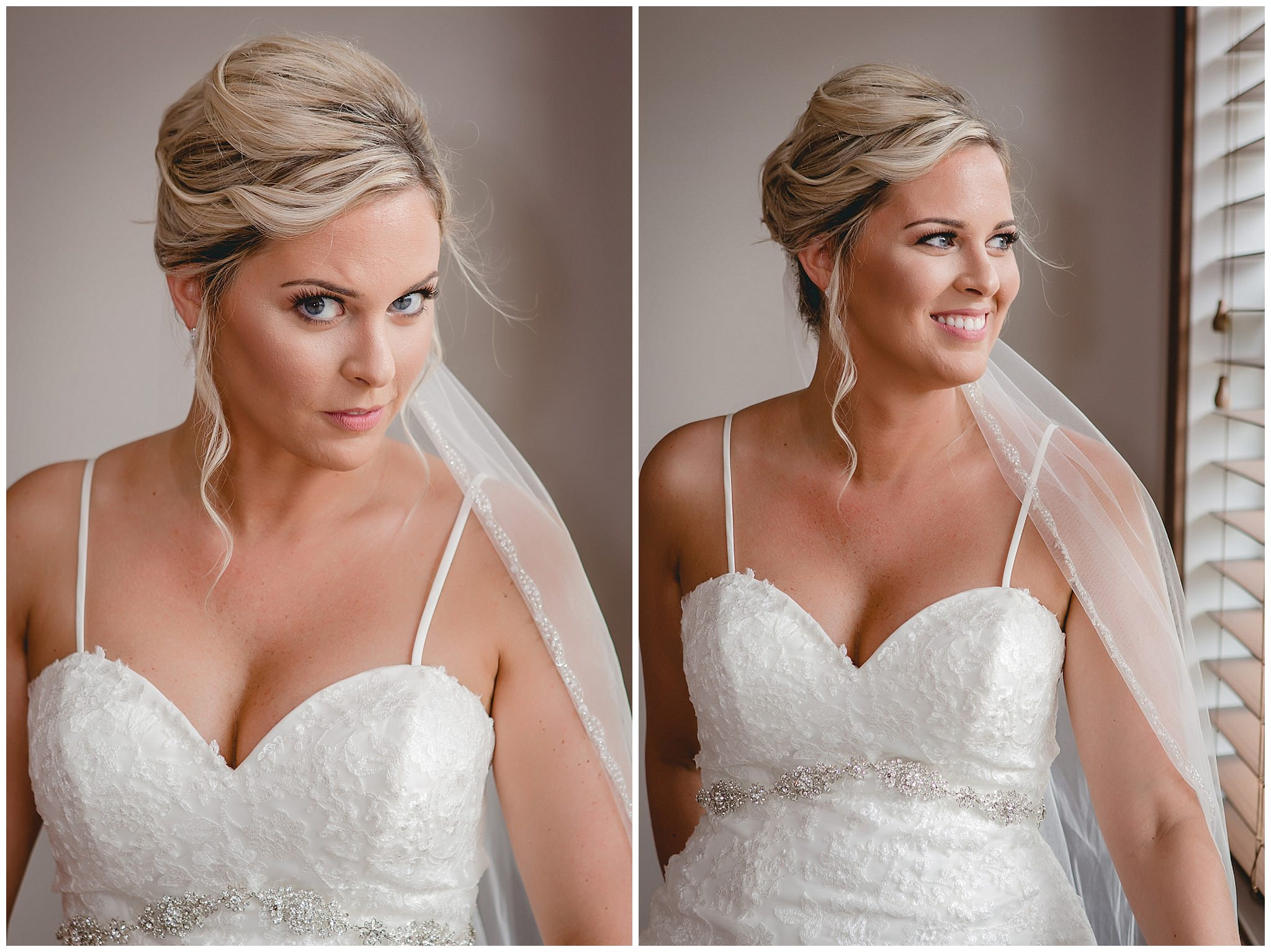 Bridal portraits before a September wedding at the Gathering Place at Darlington Lake