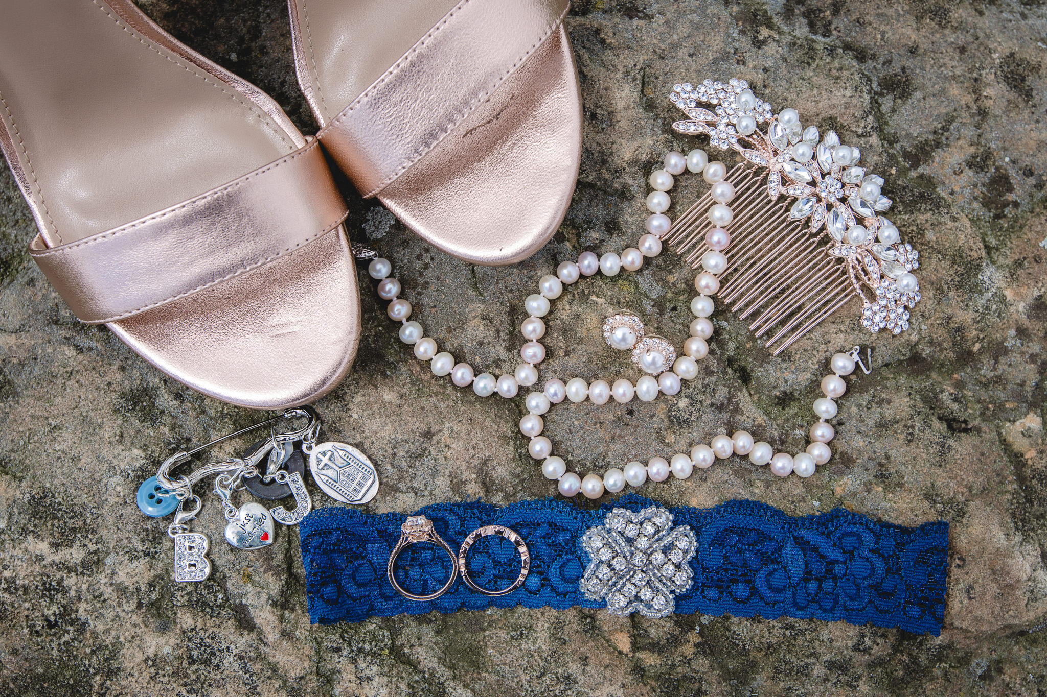 Bridal details at White Barn in Prospect PA