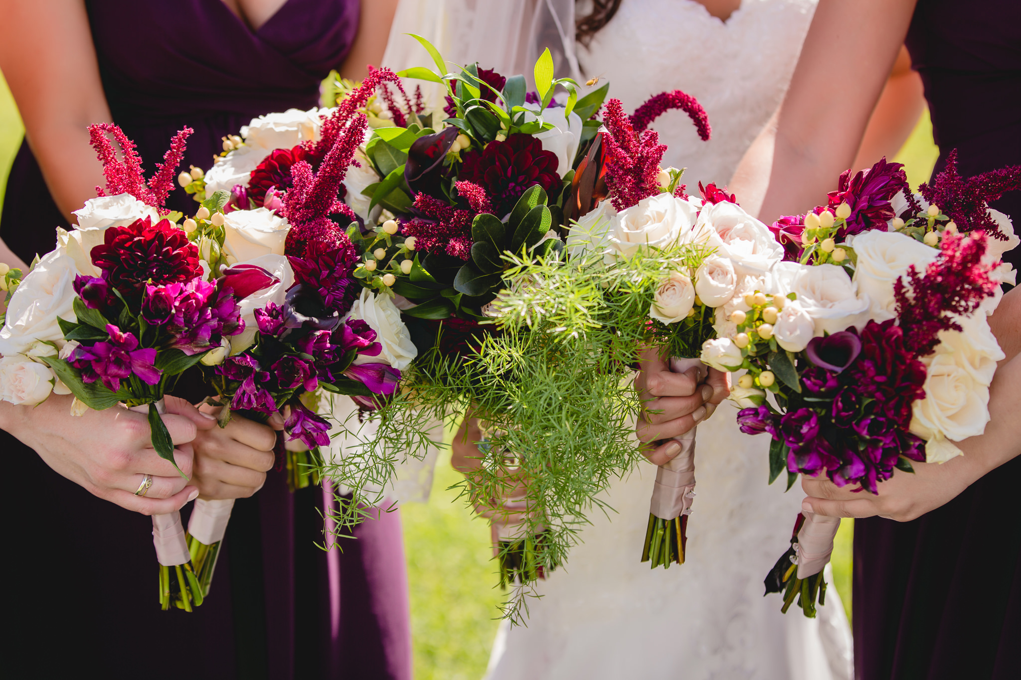 Bridal bouquets by Events by Jarrod at White Barn