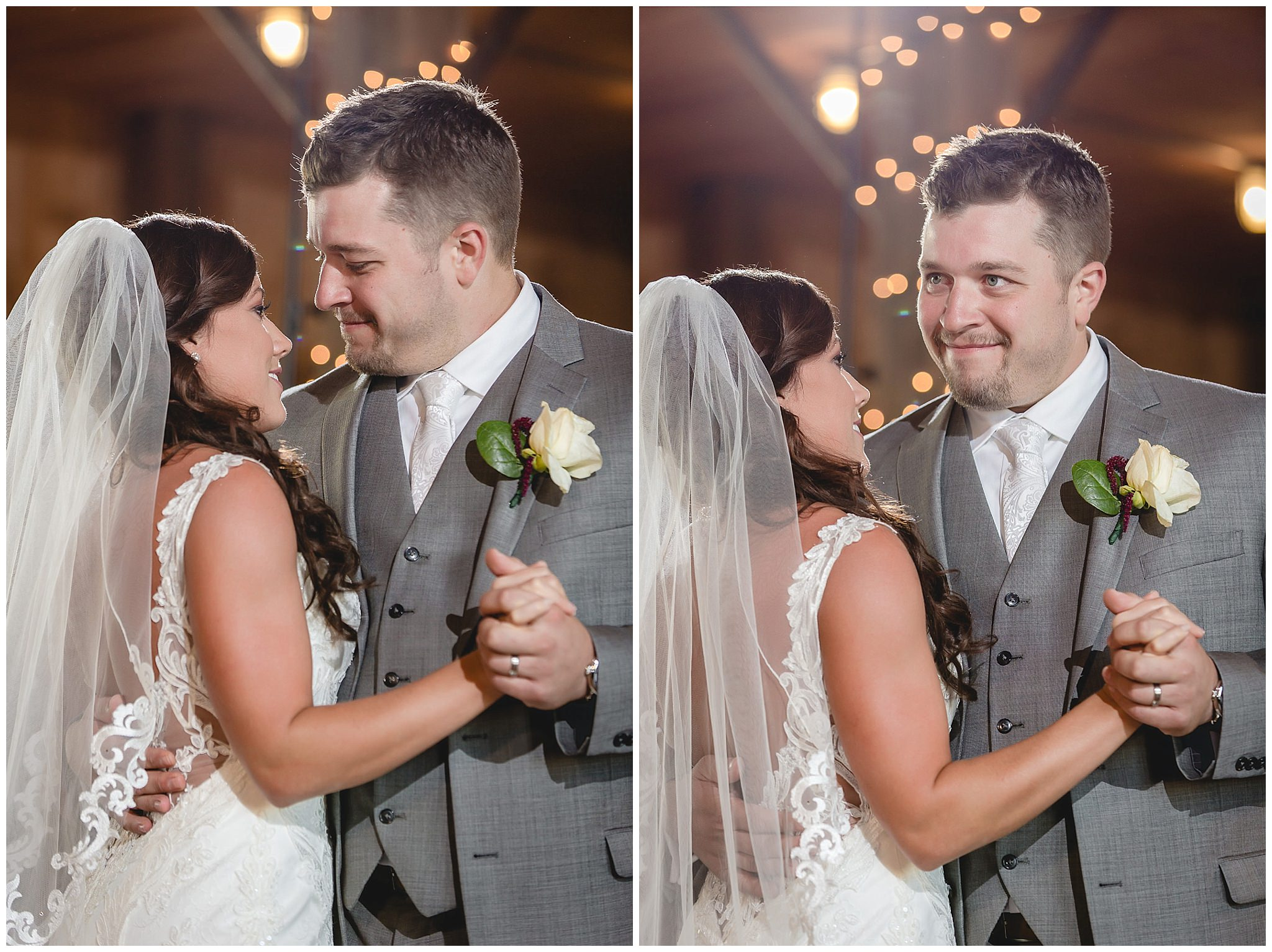 Bride and groom's first dance at White Barn