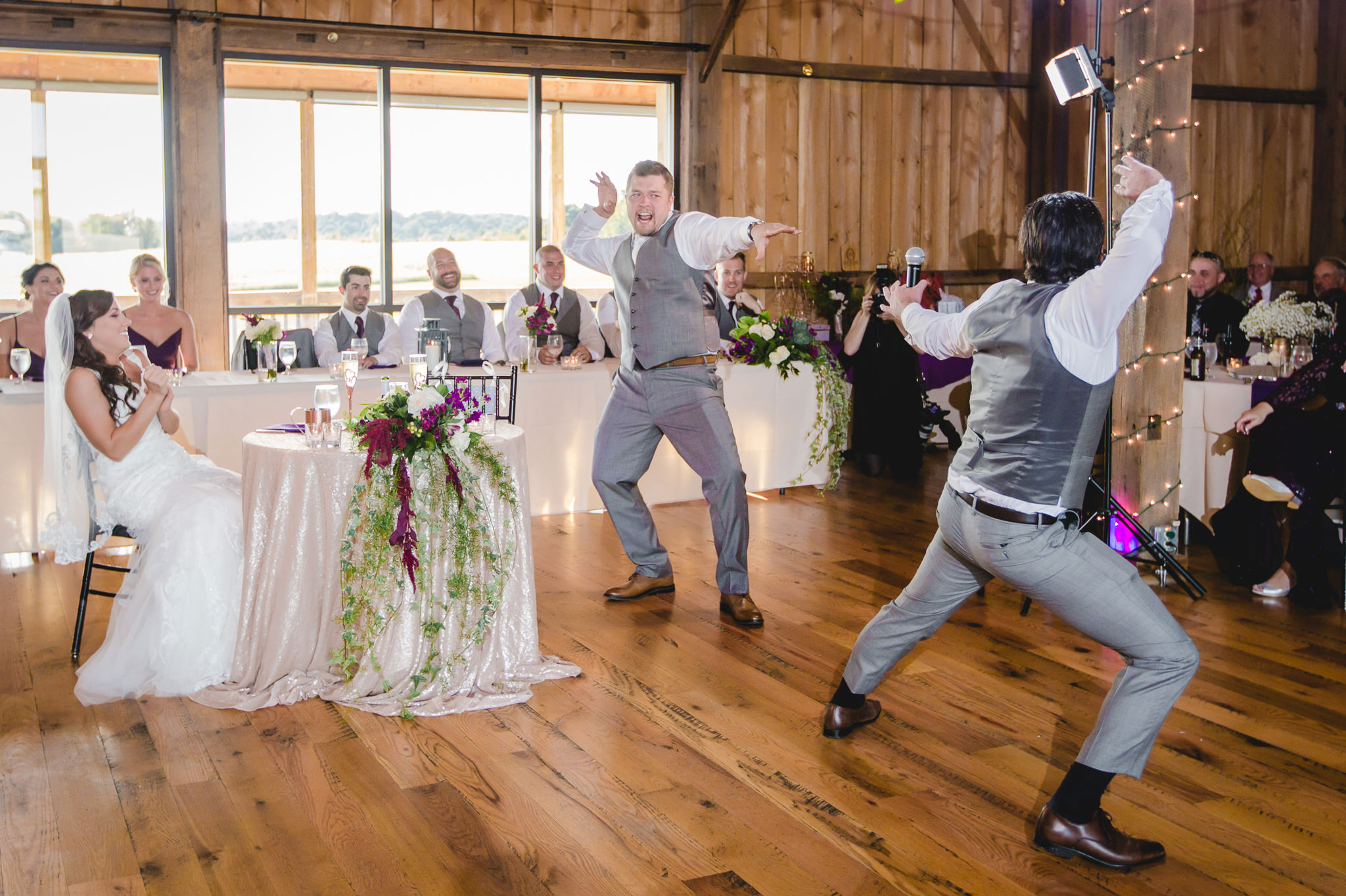 Barn dance wedding