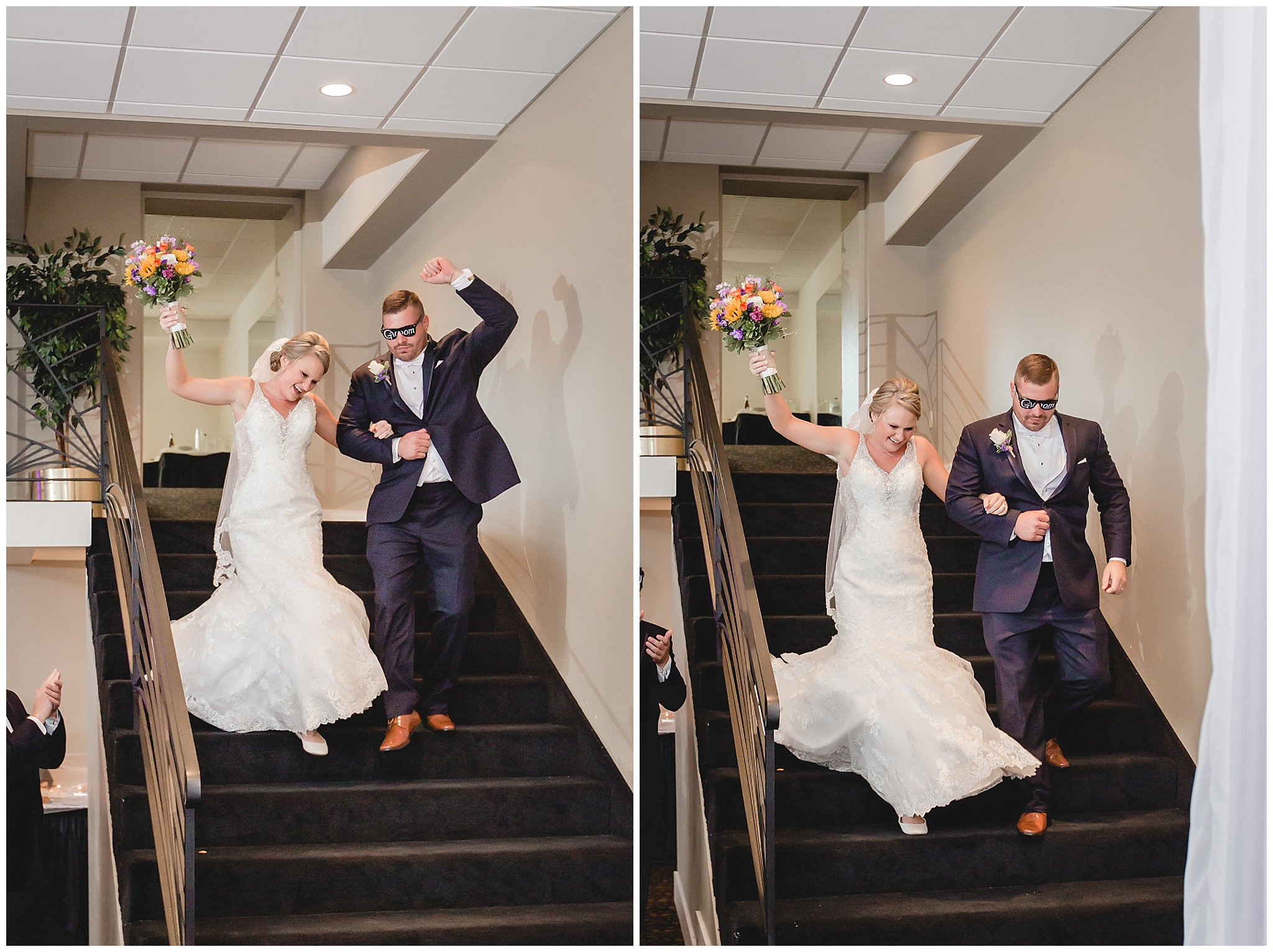 Bride and groom enter their reception at the Fez in Hopewell