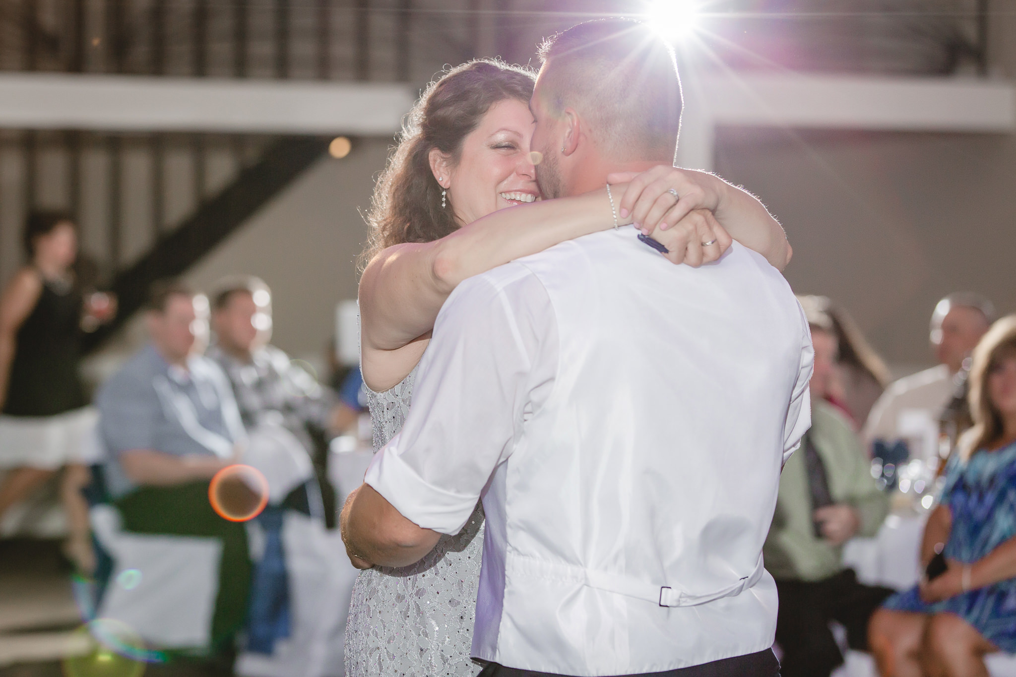 Groom dances with his mother at the Fez