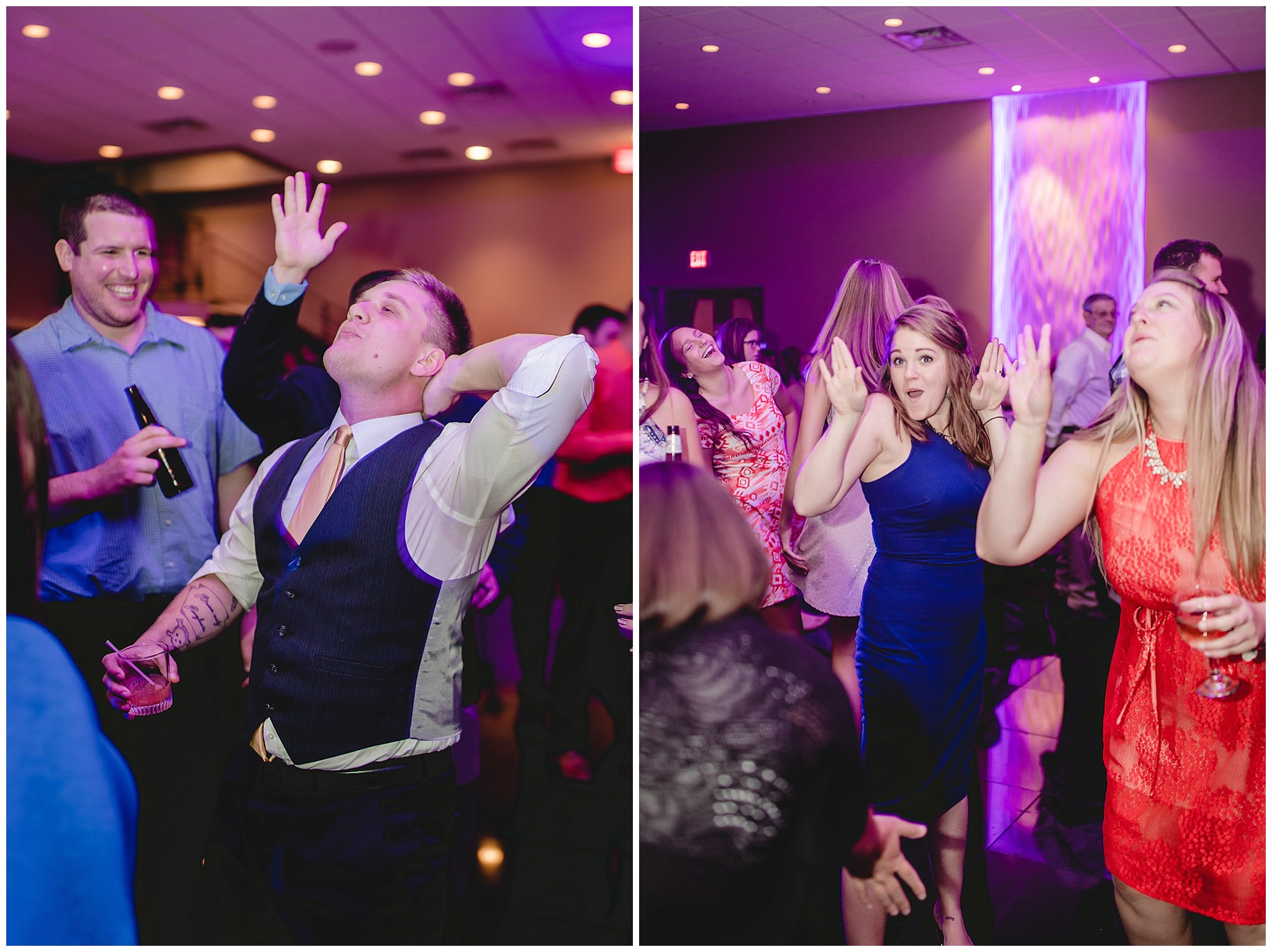 Wedding guests on the dance floor at the Fez