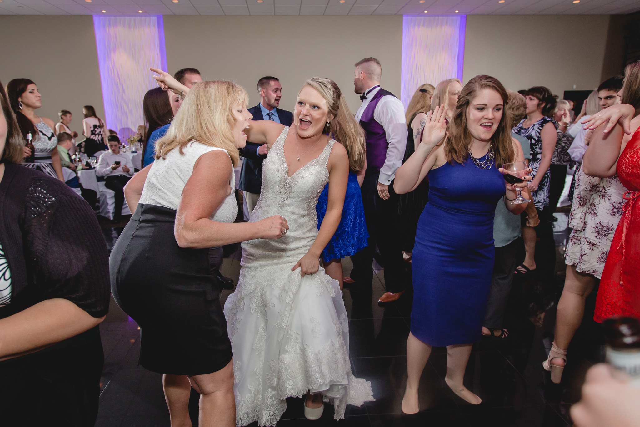 Bride dances with guests at the Fez
