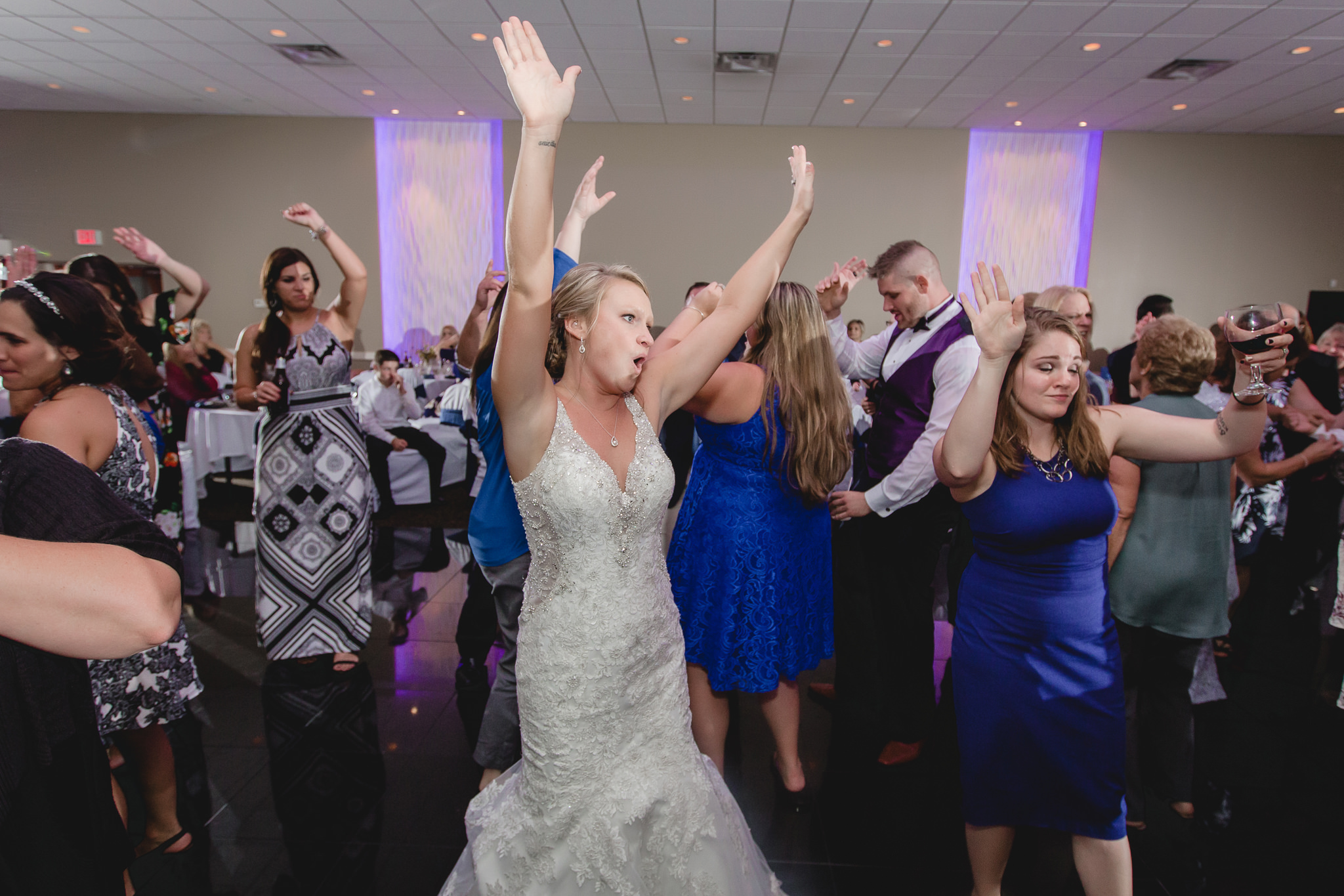 Bride on the dance floor at the Fez wedding reception