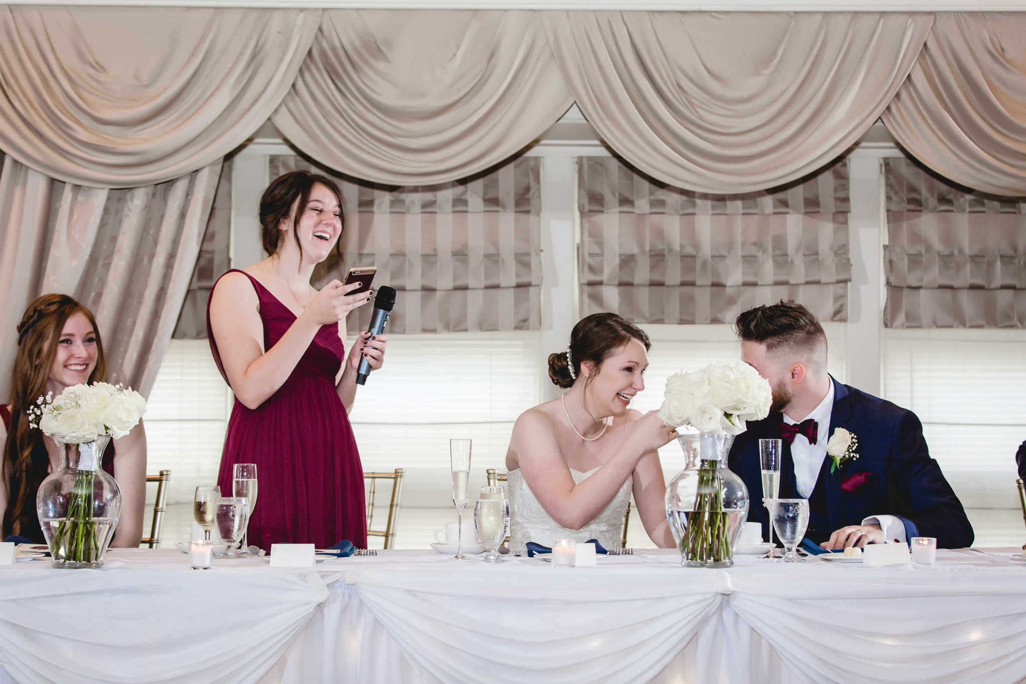 Maid Of Honor Gives A Speech At Chadwick Wedding Reception
